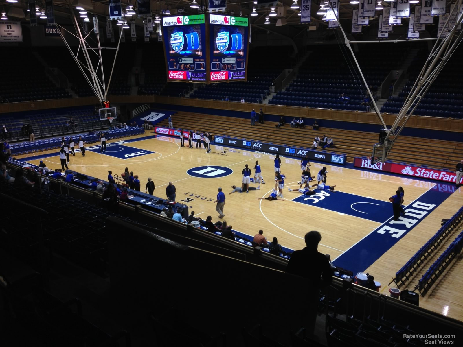 Cameron Indoor Stadium Section 8 Rateyourseats Com