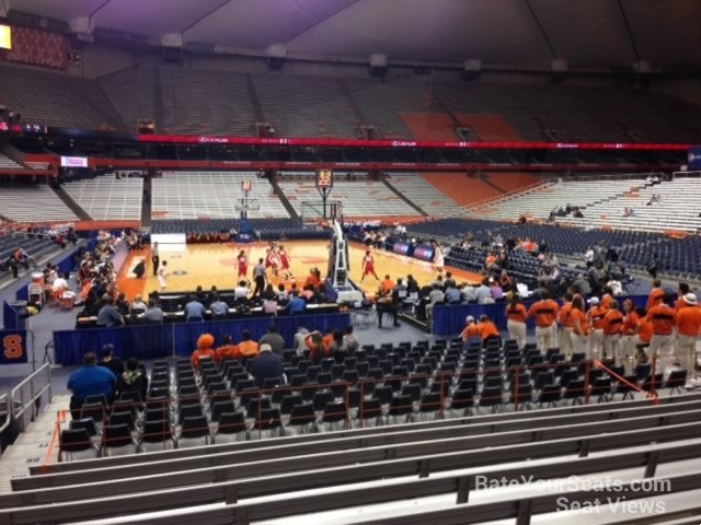 Carrier Dome Section 104 Syracuse Basketball Rateyourseats Com