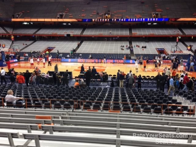 Syracuse Orange Seat View for Carrier Dome Section 123