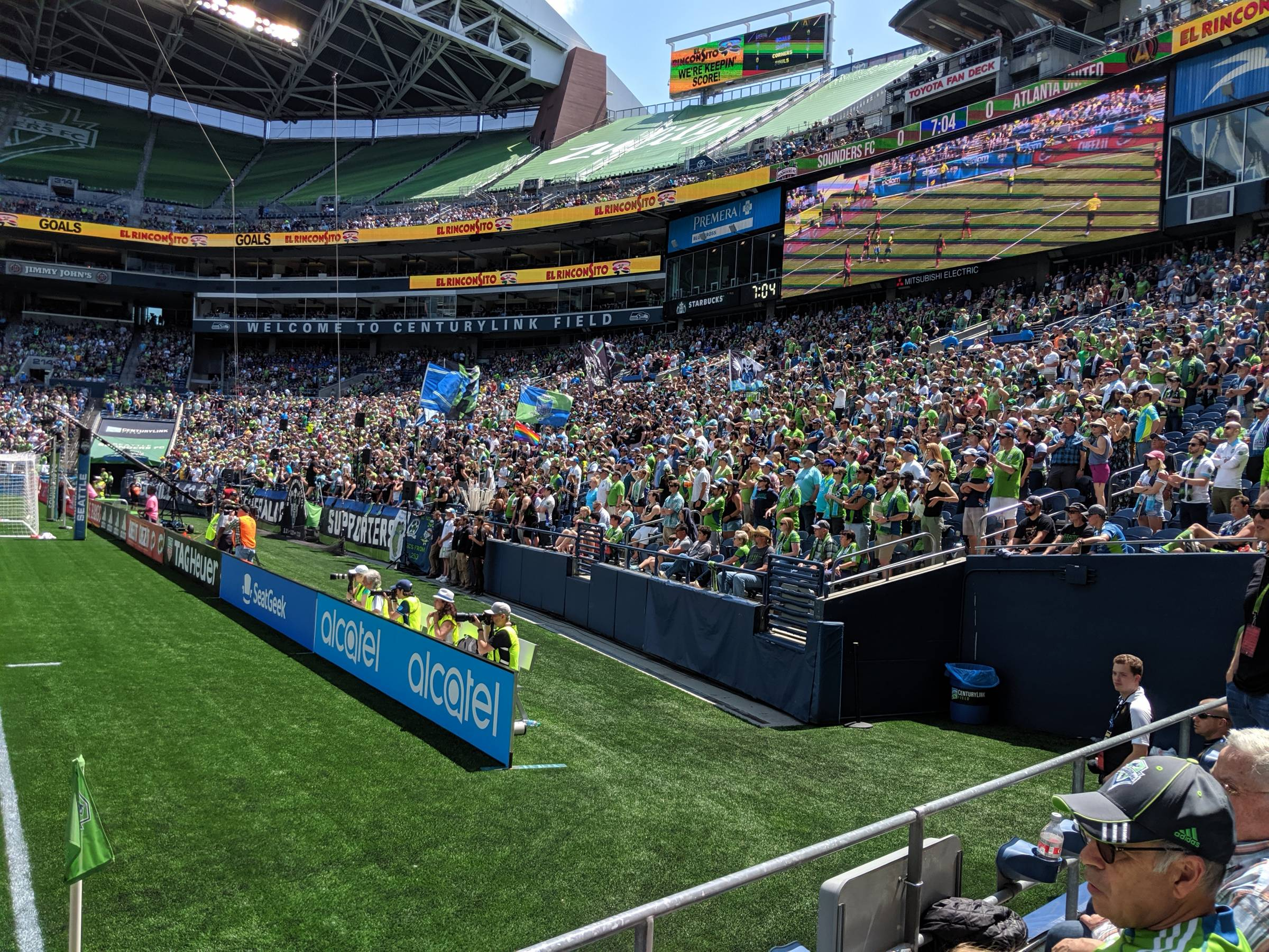 emerald city supporters at CenturyLink Field