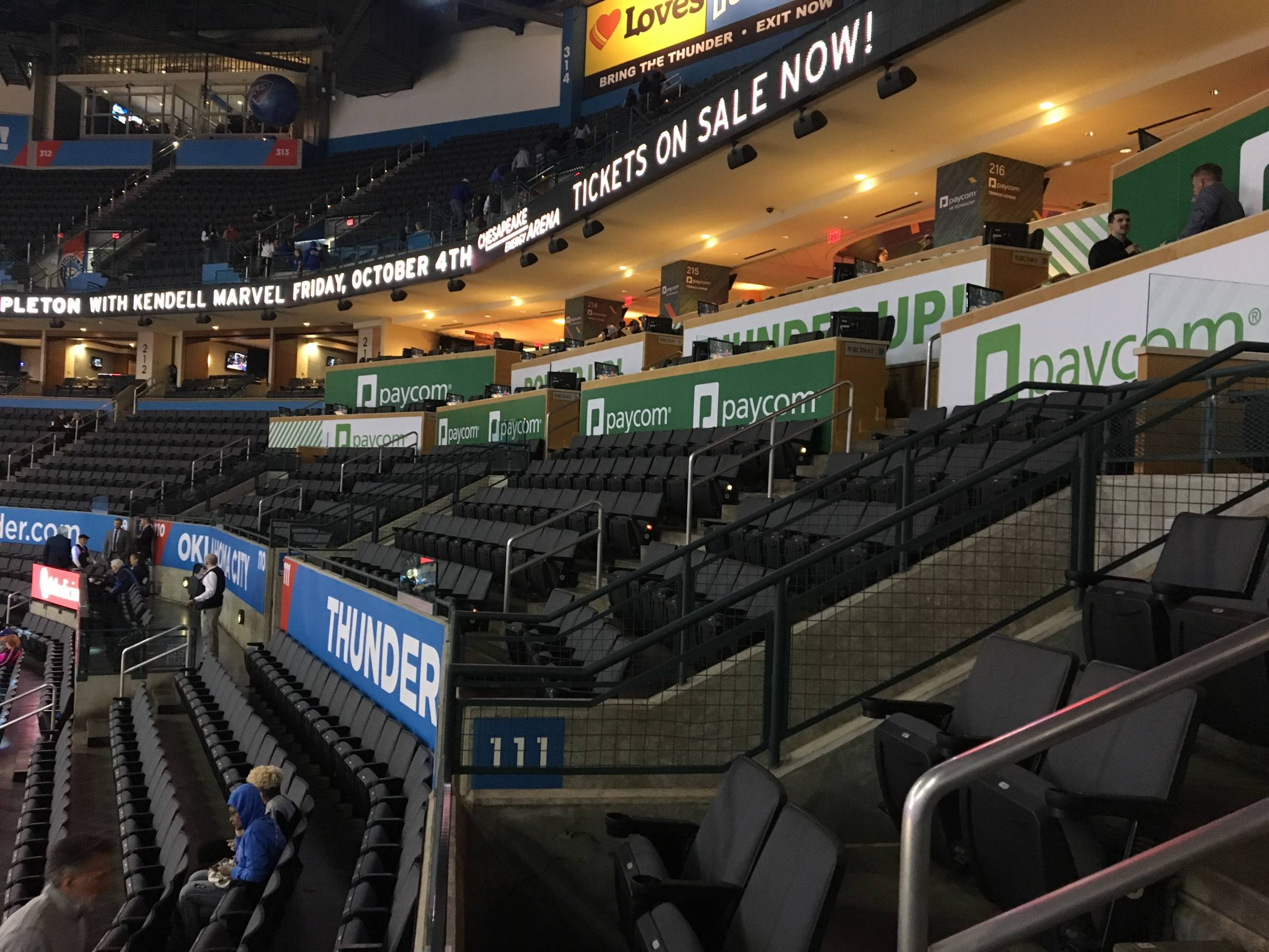Oklahoma City Thunder Seating Guide Chesapeake Energy Arena