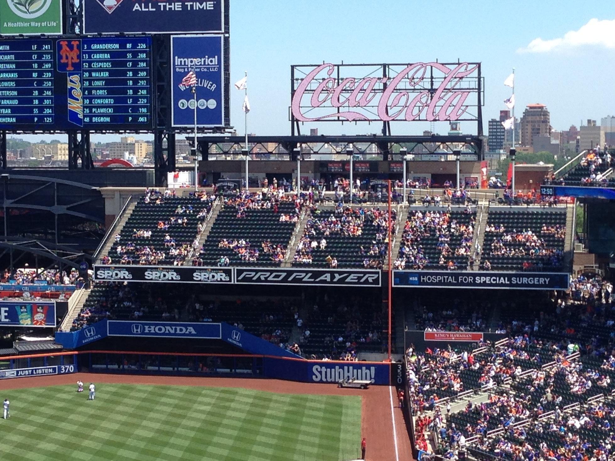 Citi Field Coca-Cola Corner - Baseball Seating - RateYourSeats.com