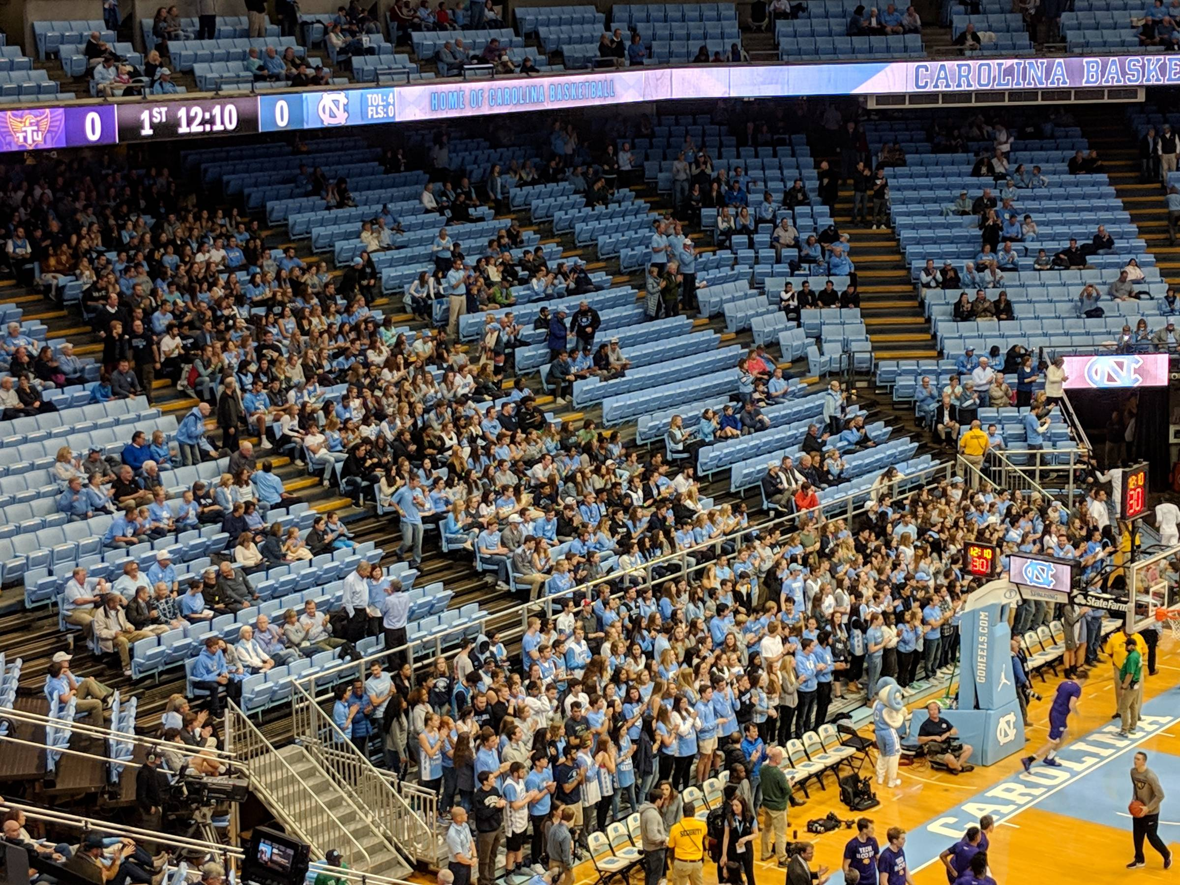 Student Section at Dean Smith Center