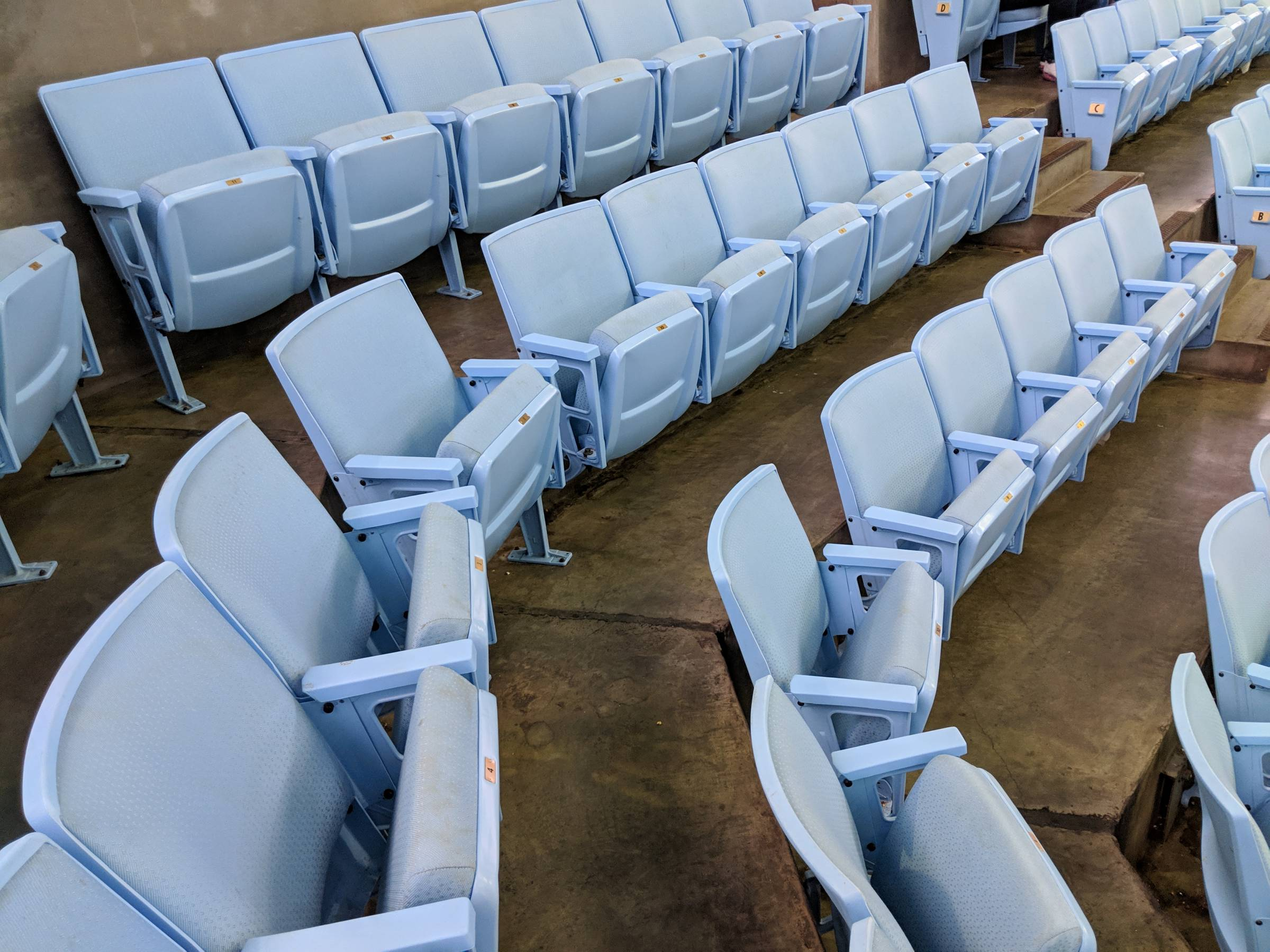 Padded Upper Level Seats Dean Smith Center