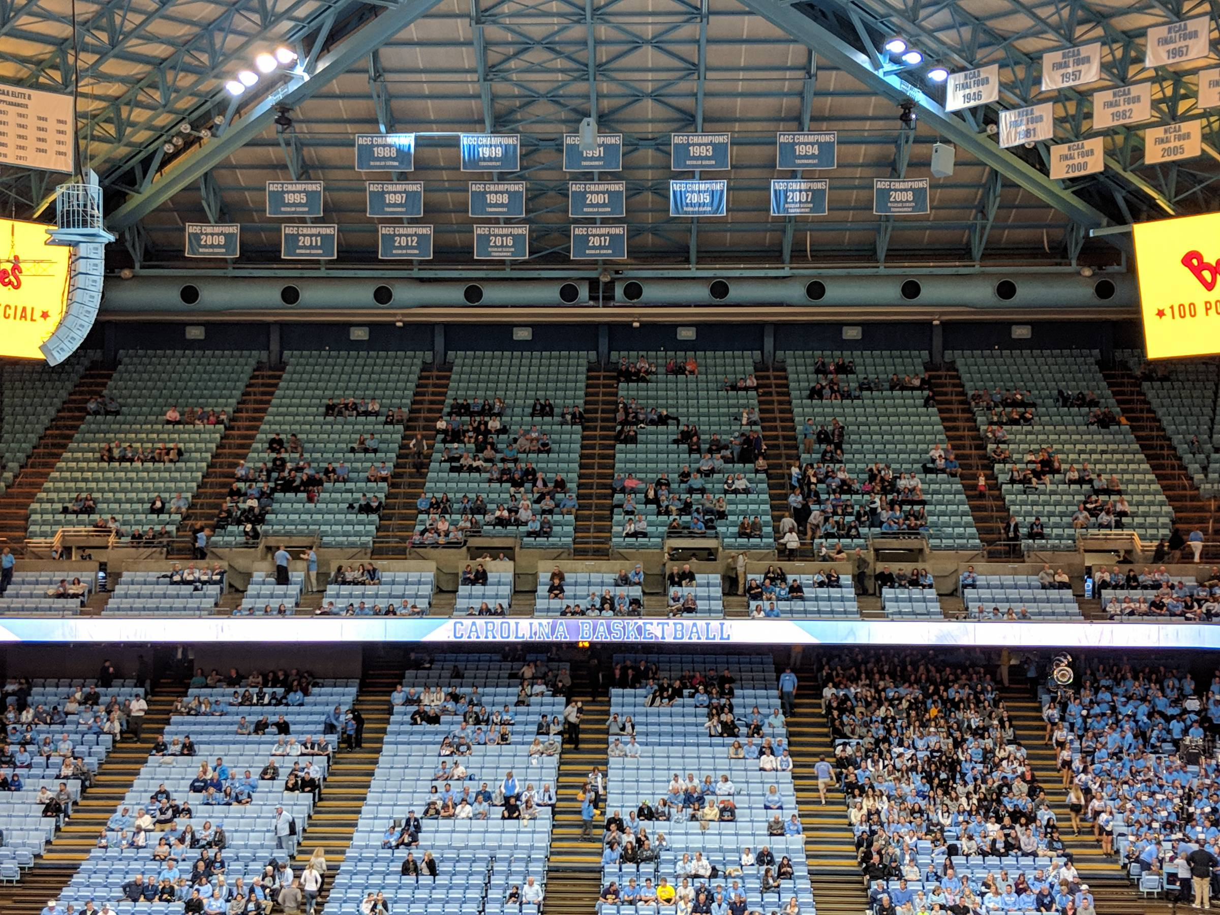Upper Level Sideline Dean Smith Center