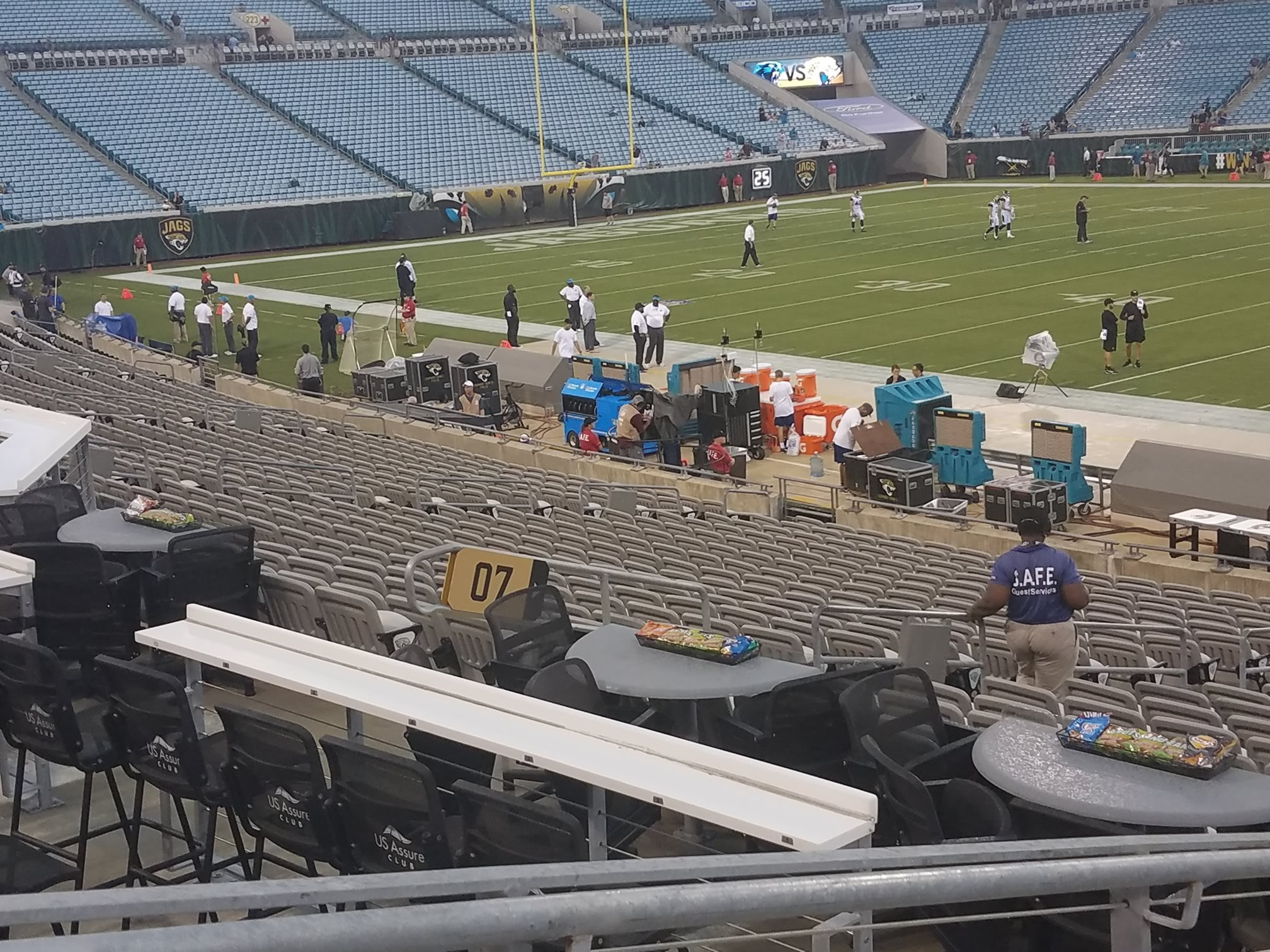 A Look At The Kickoff Tables And Bar Rails. These Are On The West Side Of  The Field Between Sections 07 And 107.