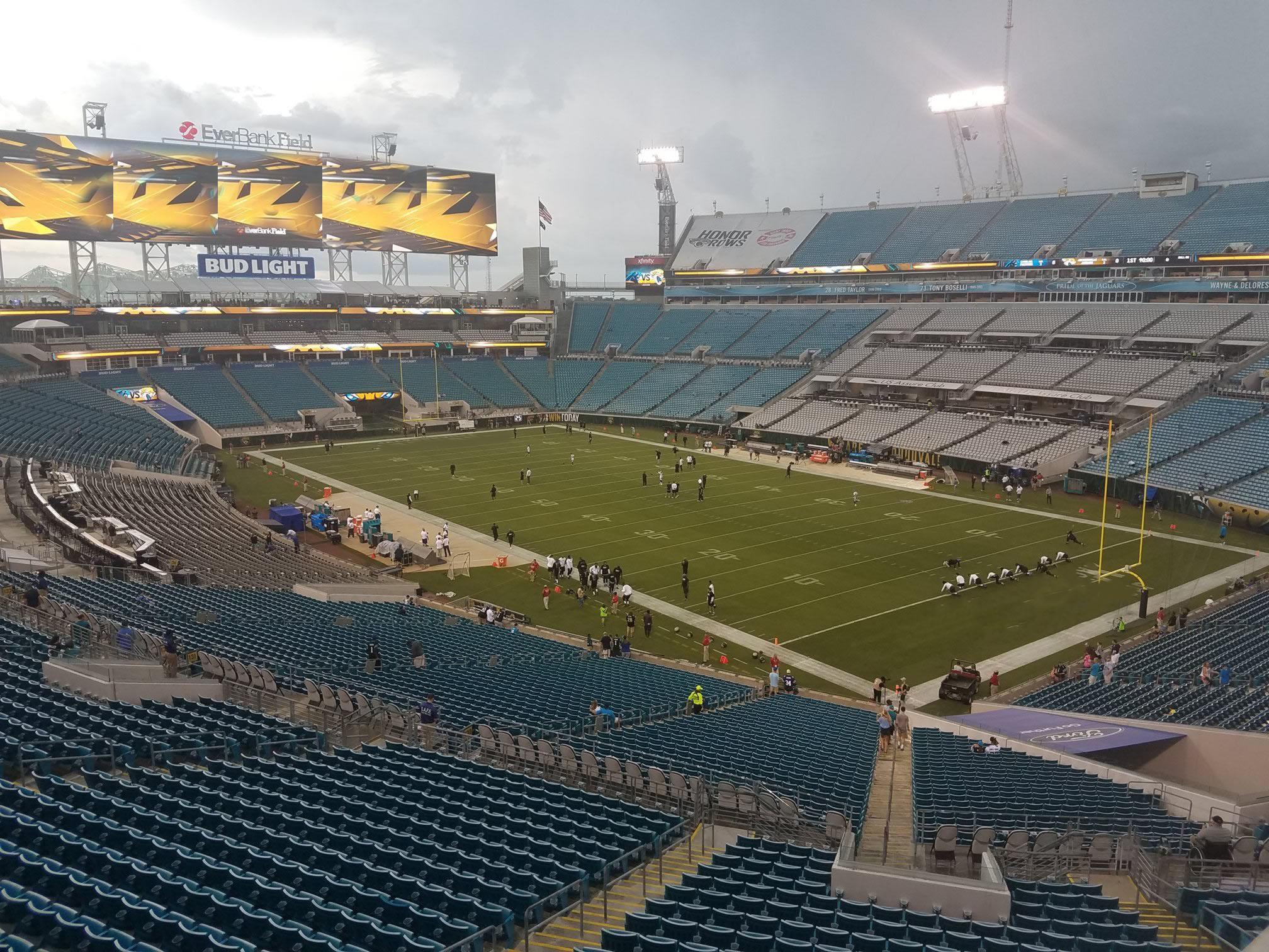 Jacksonville Jaguars Seating Guide - TIAA Bank Field - RateYourSeats com