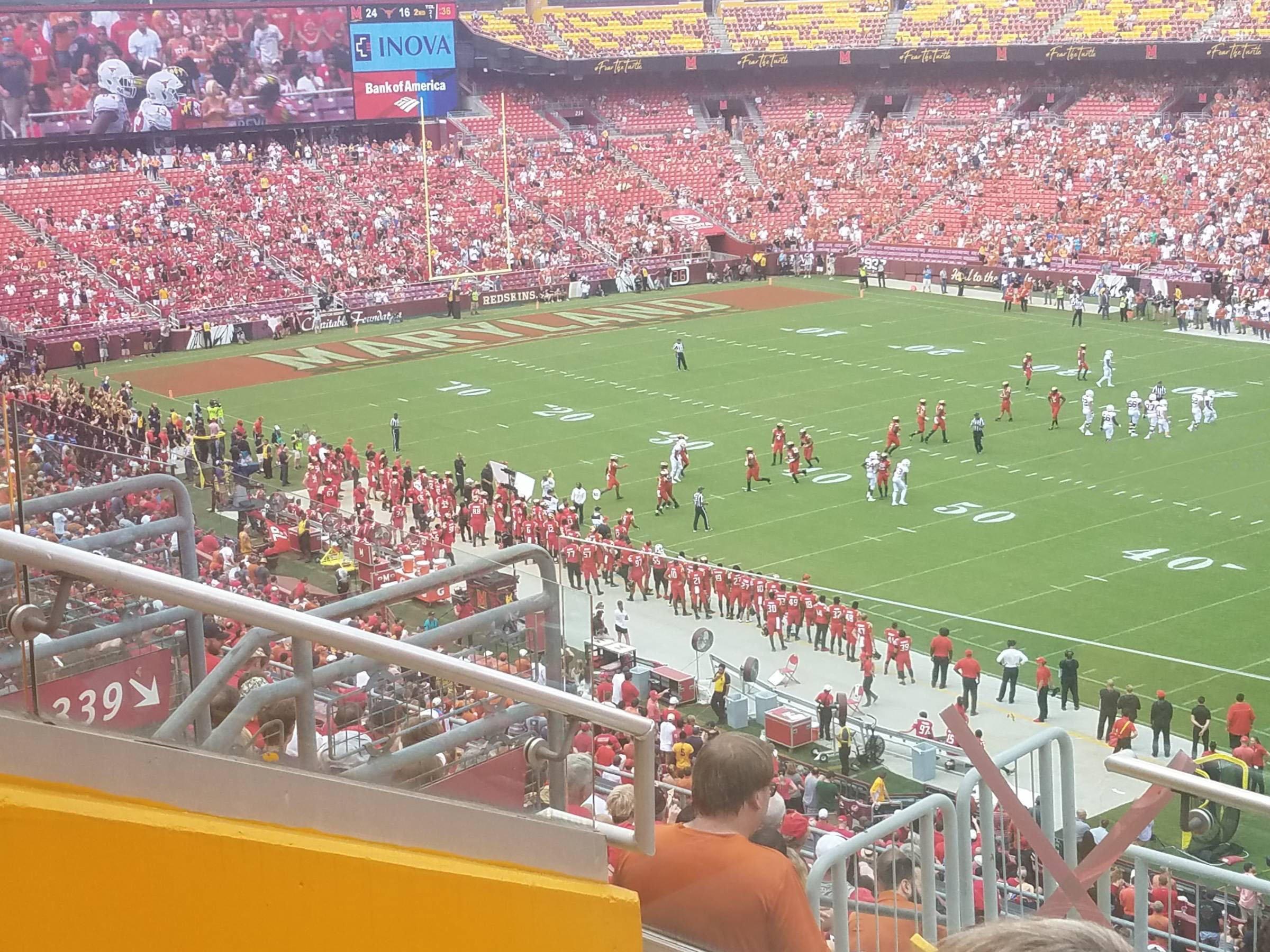 Washington Redskins Seating Guide