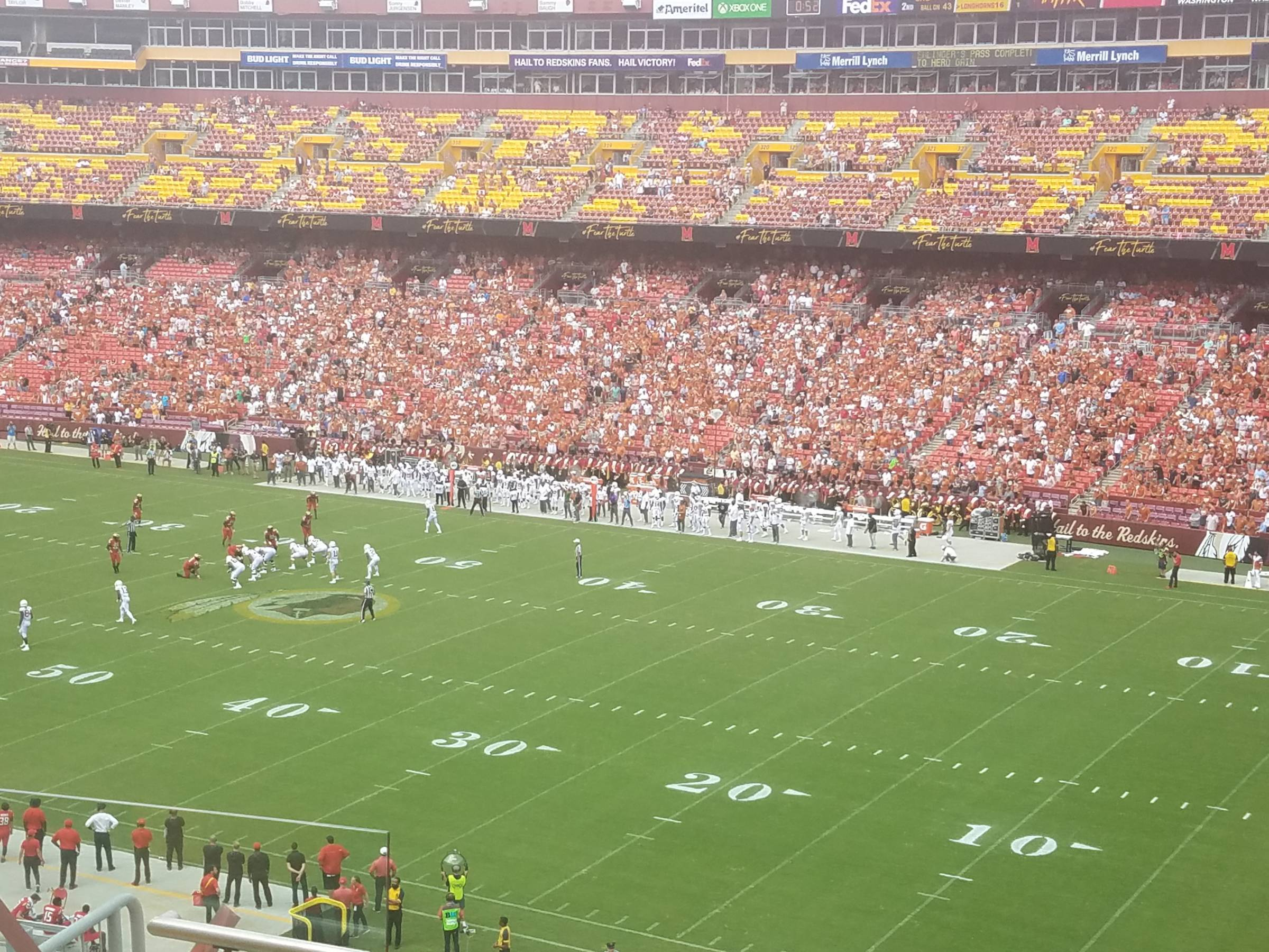 washington redskins seating guide - fedexfield - rateyourseats