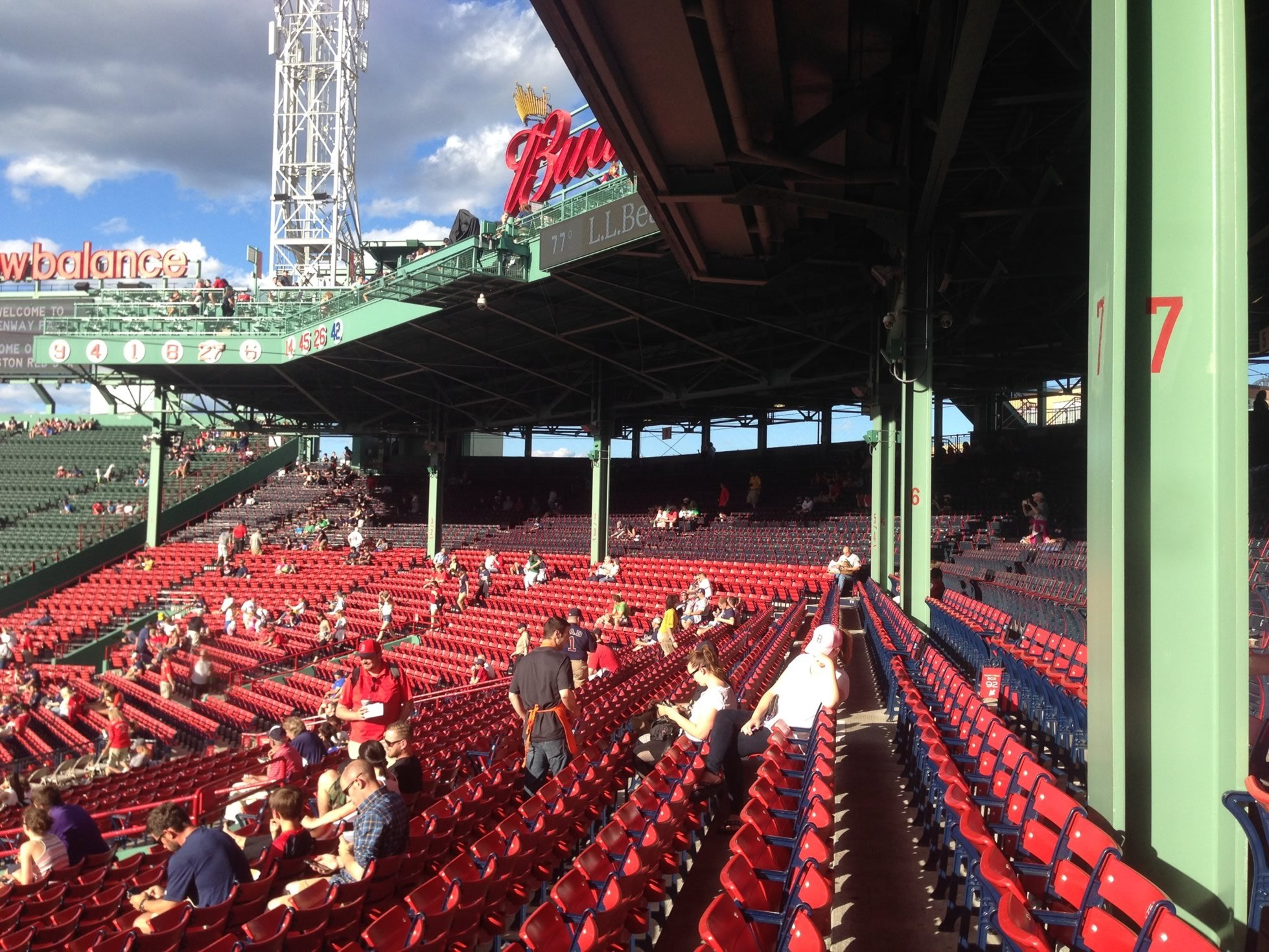 All Grandstand seats at Fenway Park are fully covered by the pavilion level
