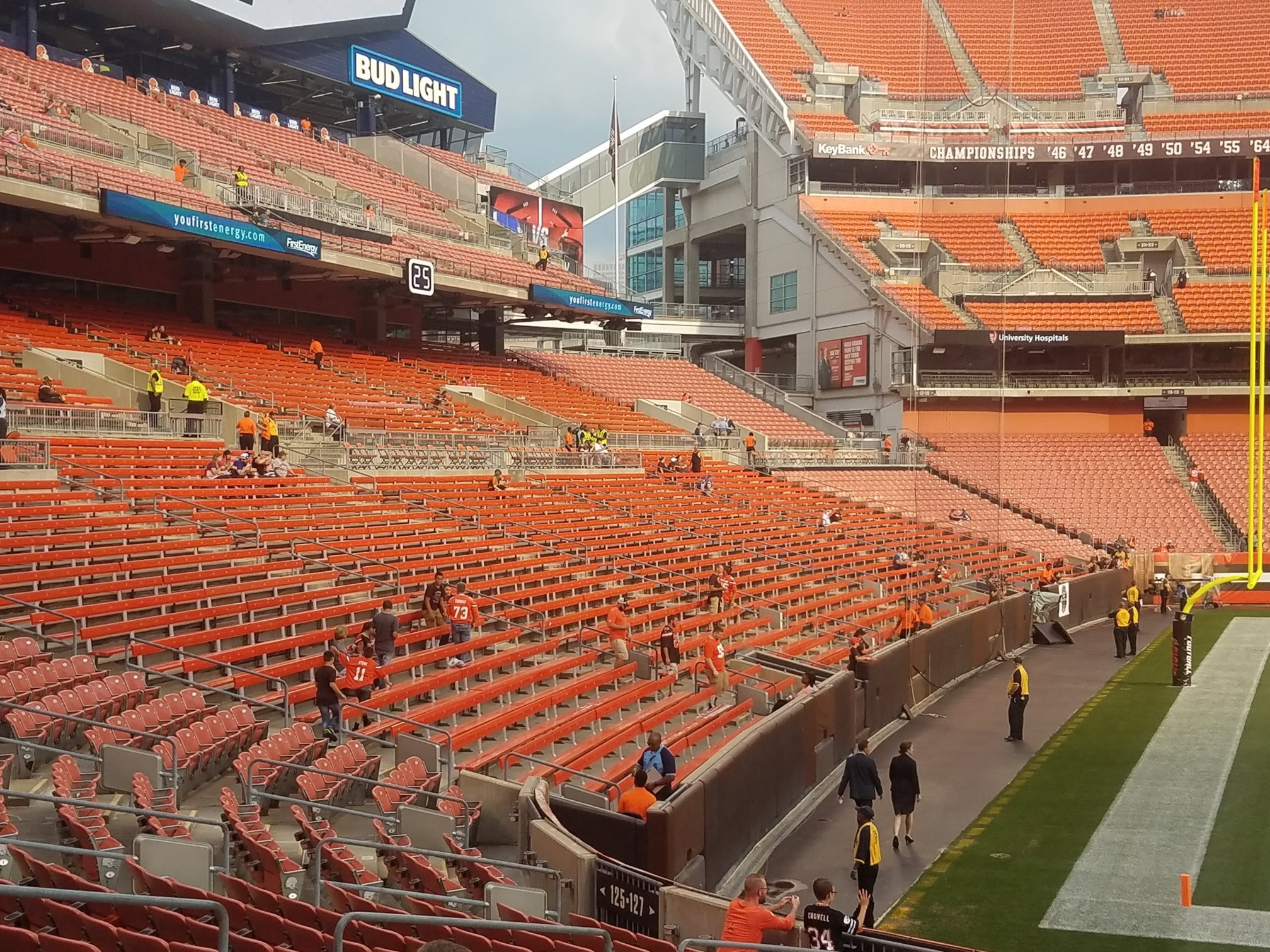 Cleveland Browns Stadium Seat Map on