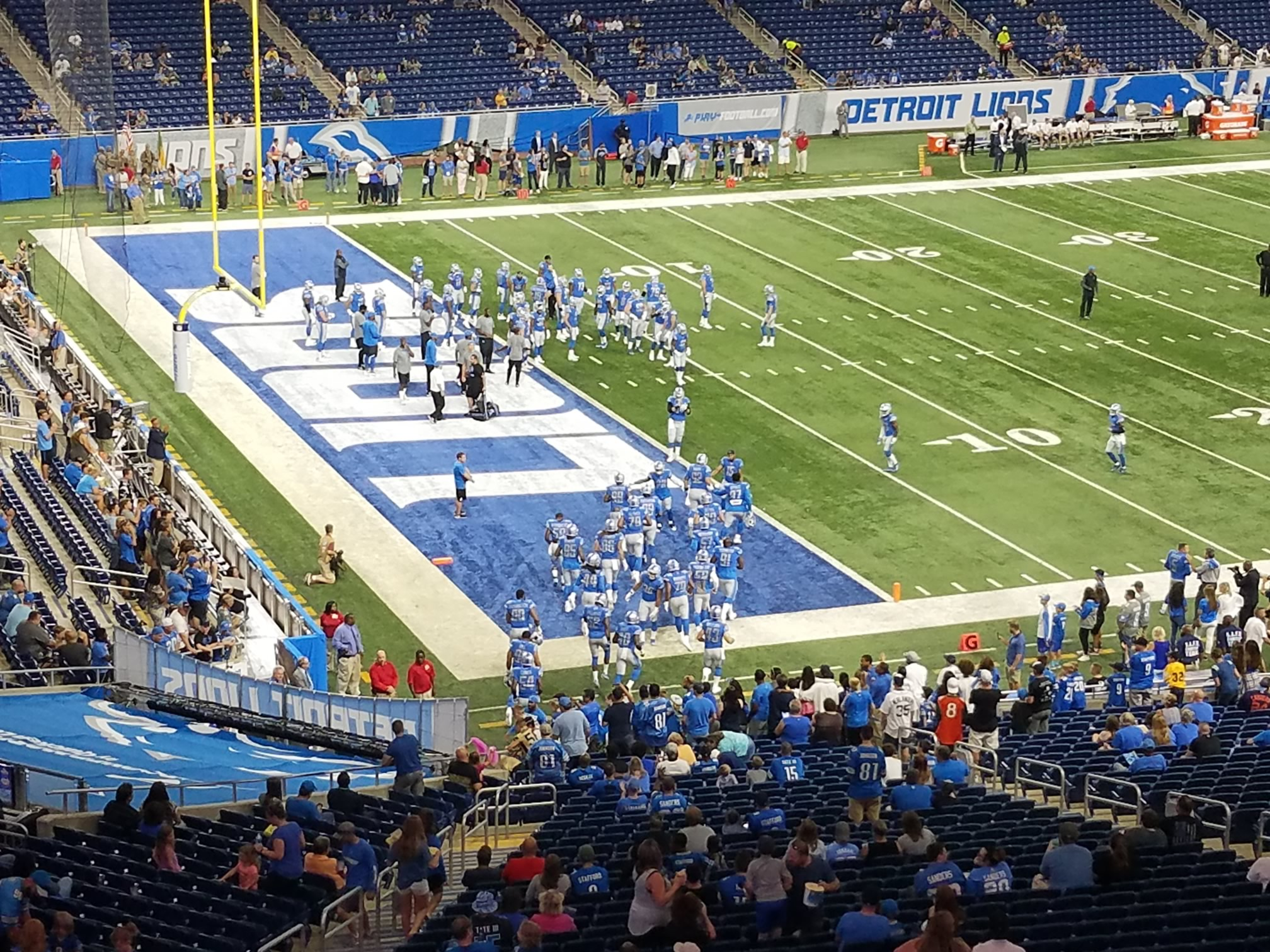 Detroit Lions Seating Guide Ford Field Rateyourseatscom