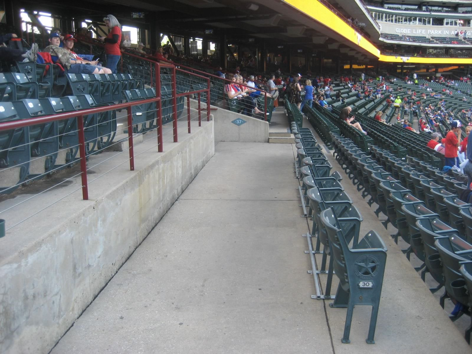 Globe Life Park Lower Level Down the Line Seats