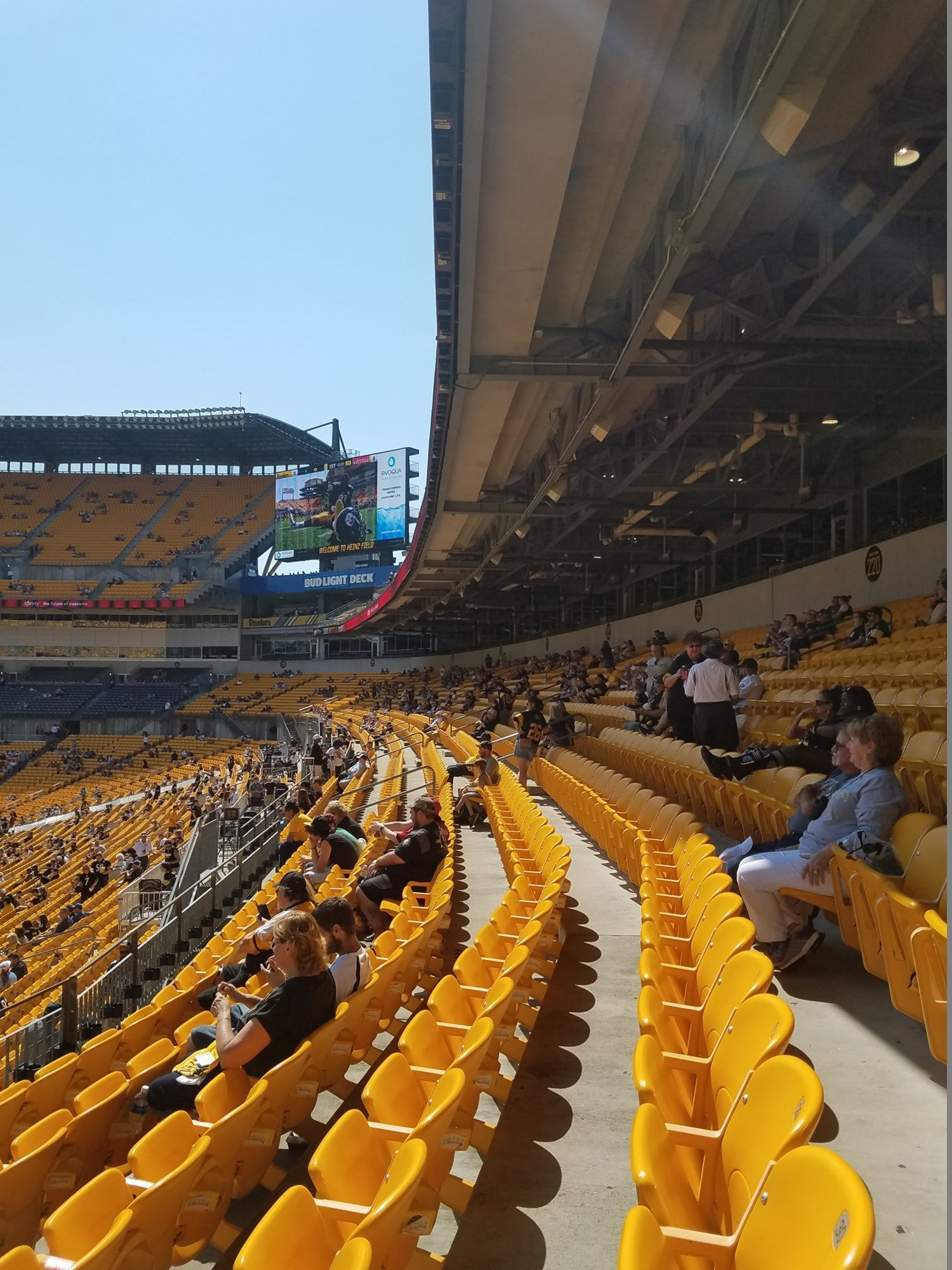 Rows F And Above In Sections 219 226 Are Under The Overhang