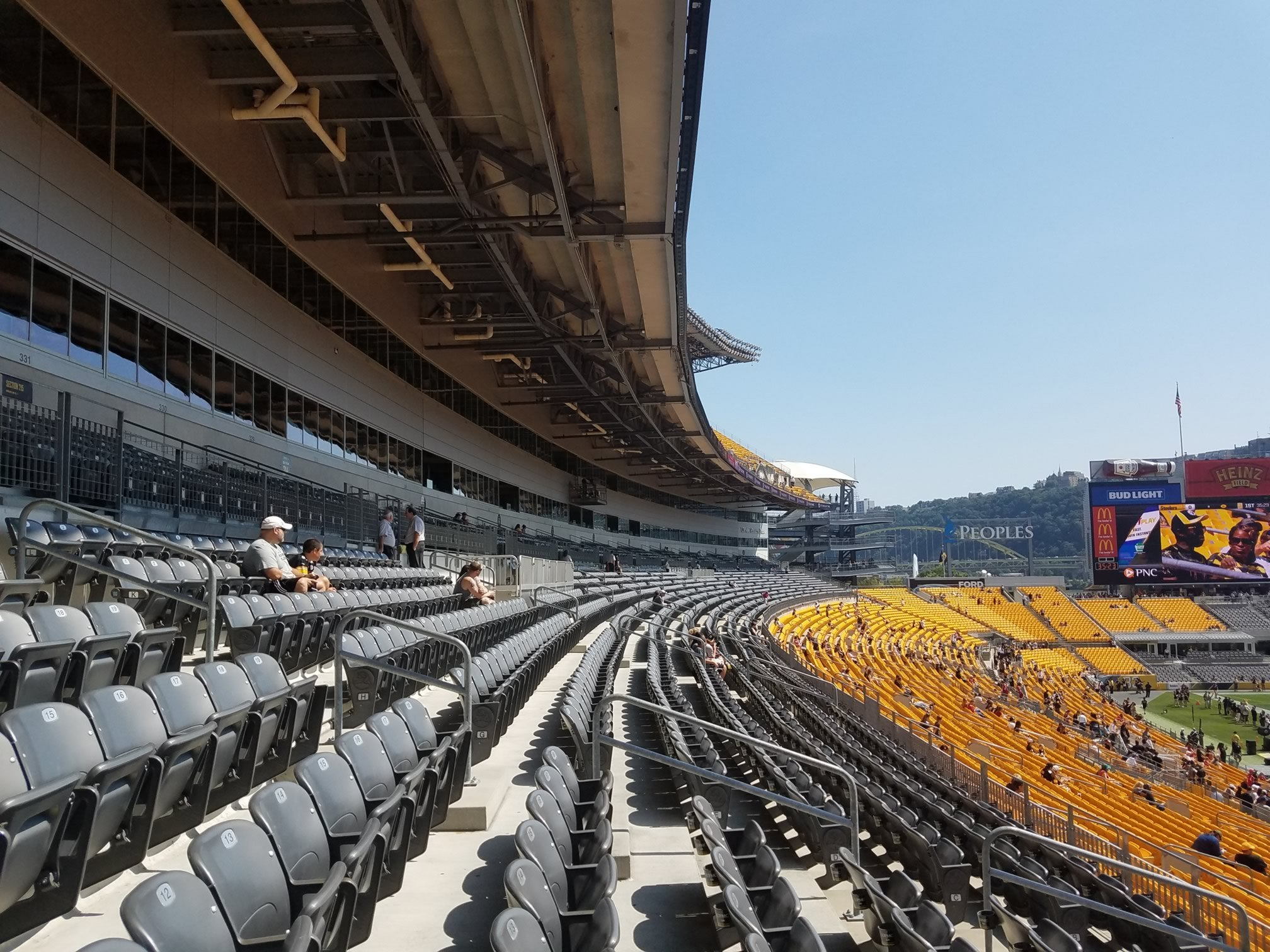 Club Seats On The East Side Of Field Are Covered In Rows F And Above Although They From This Is Sunny Many