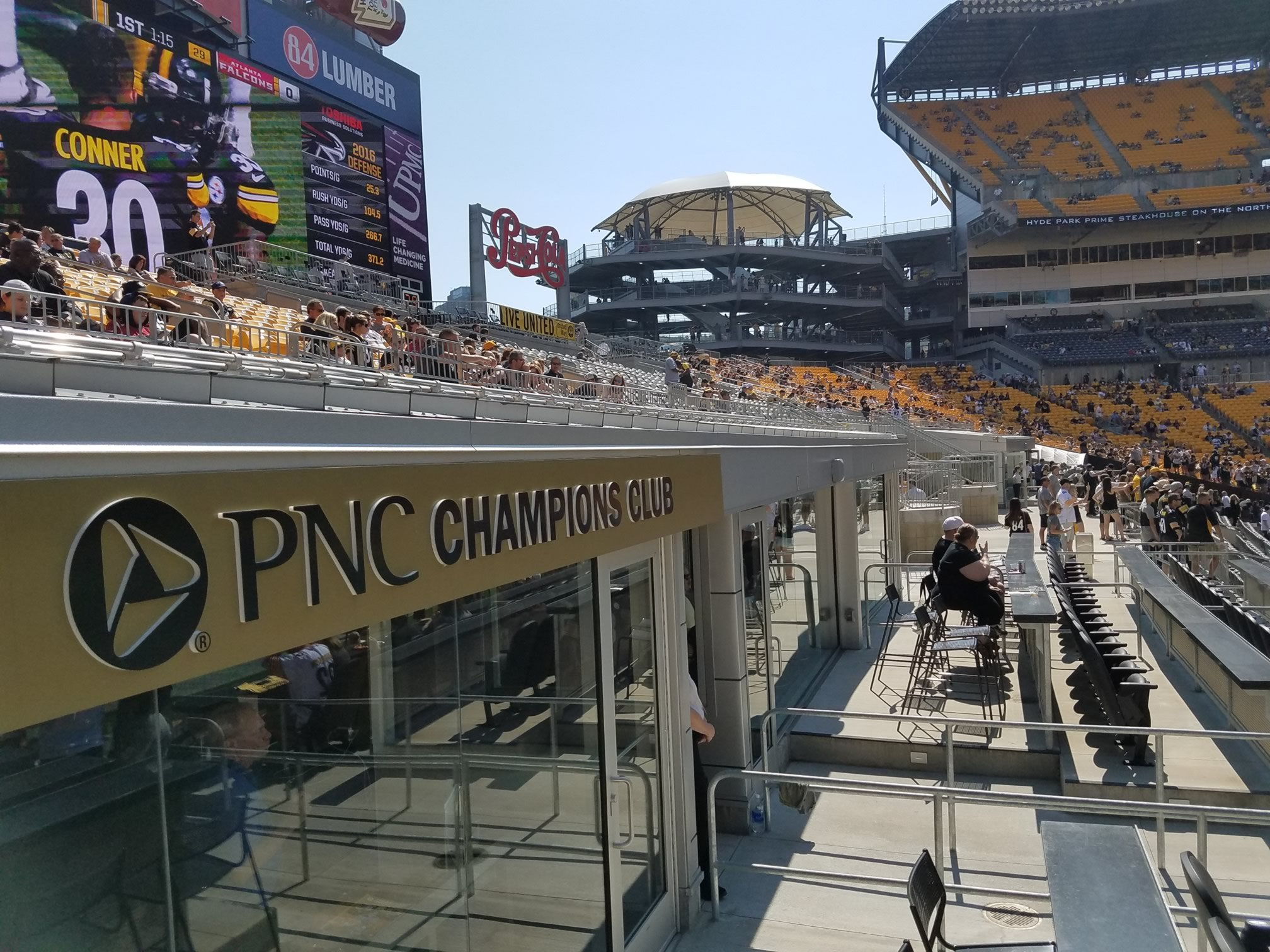 Looking Down Into The Champions Club Plaza