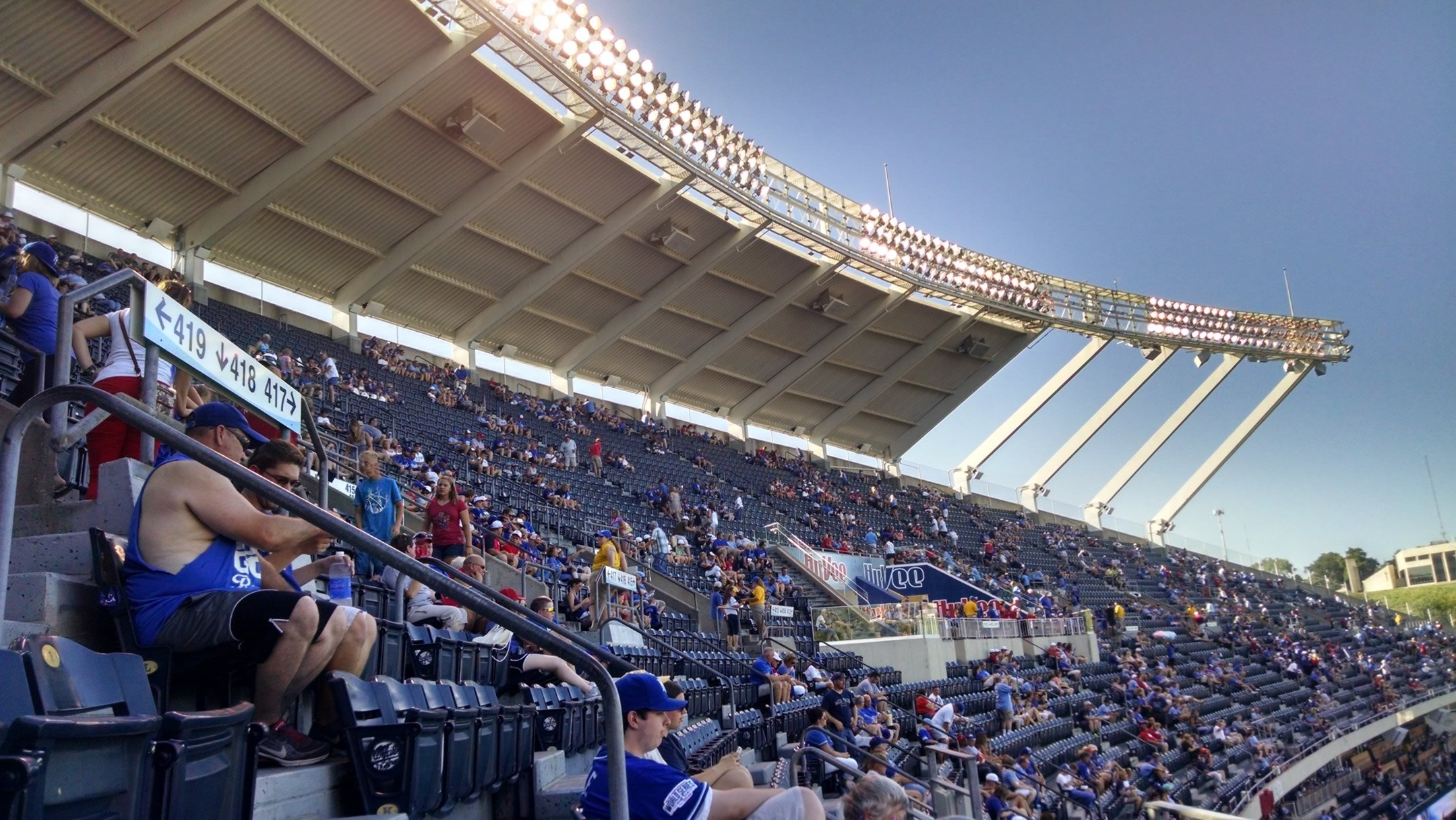 Kauffman Stadium Upper Level Down the Line