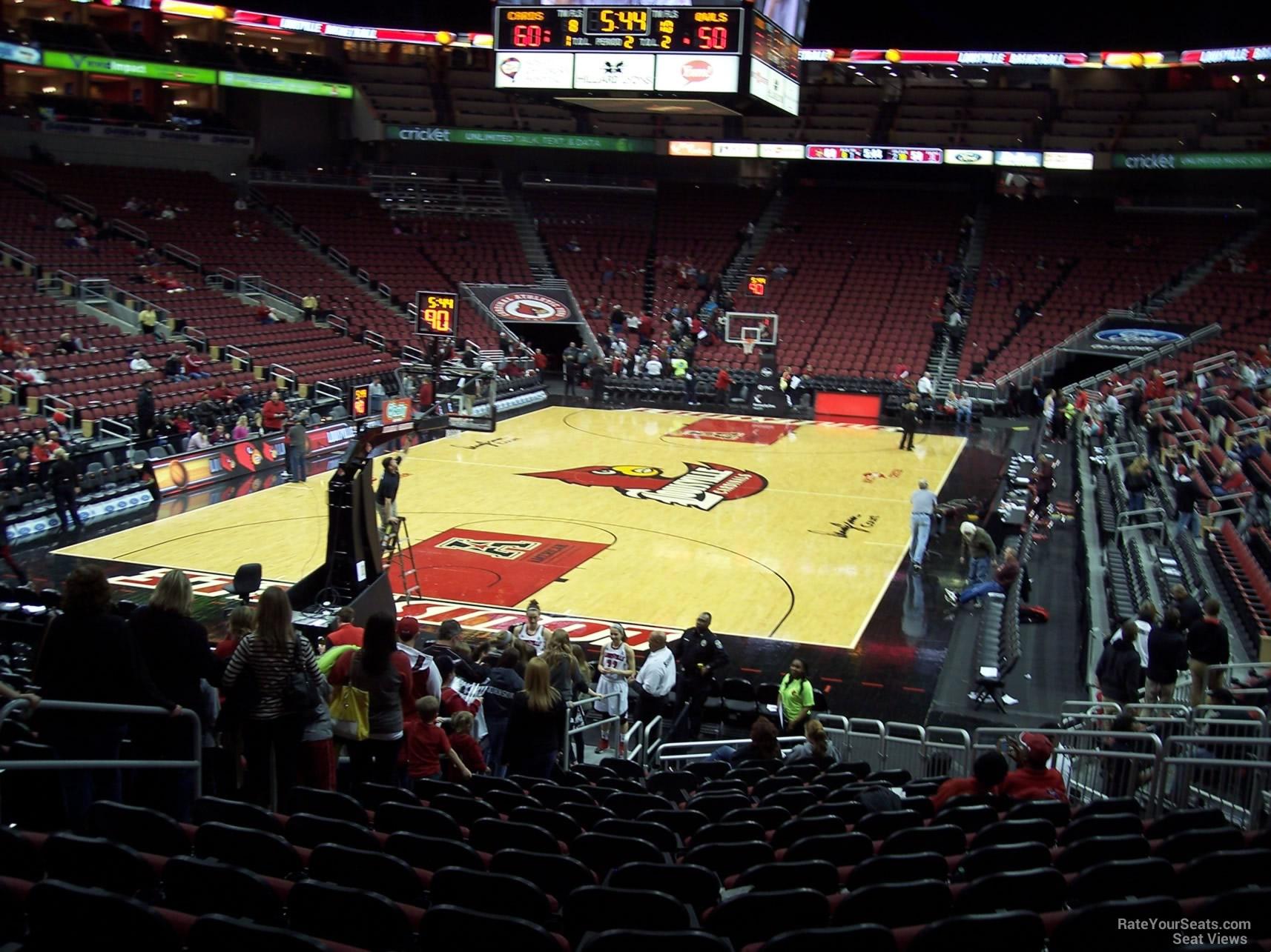 KFC Yum! Center Section 110 - Louisville Basketball - RateYourSeats.com