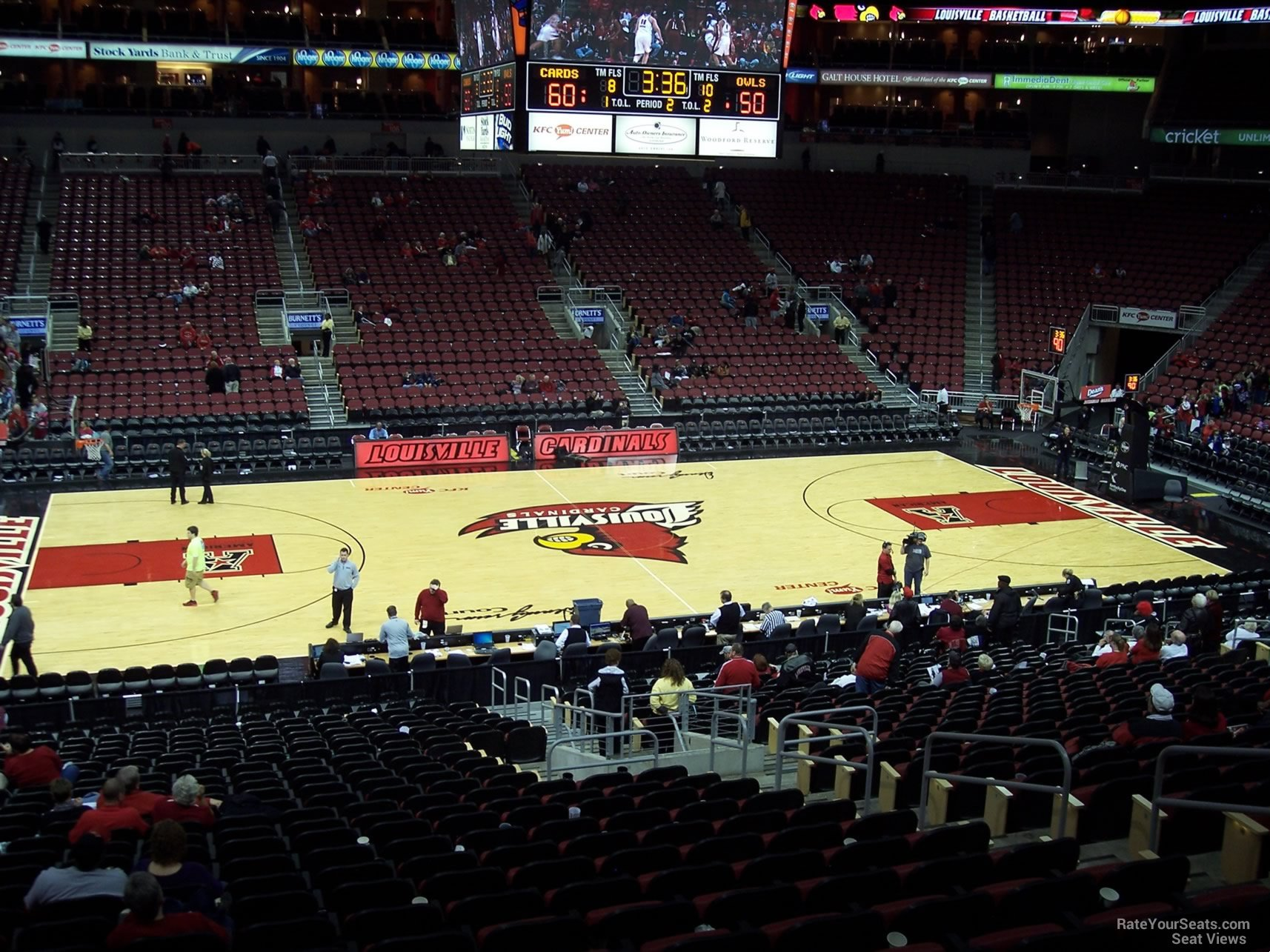 Seat View for KFC Yum! Center Section 117, Row BB