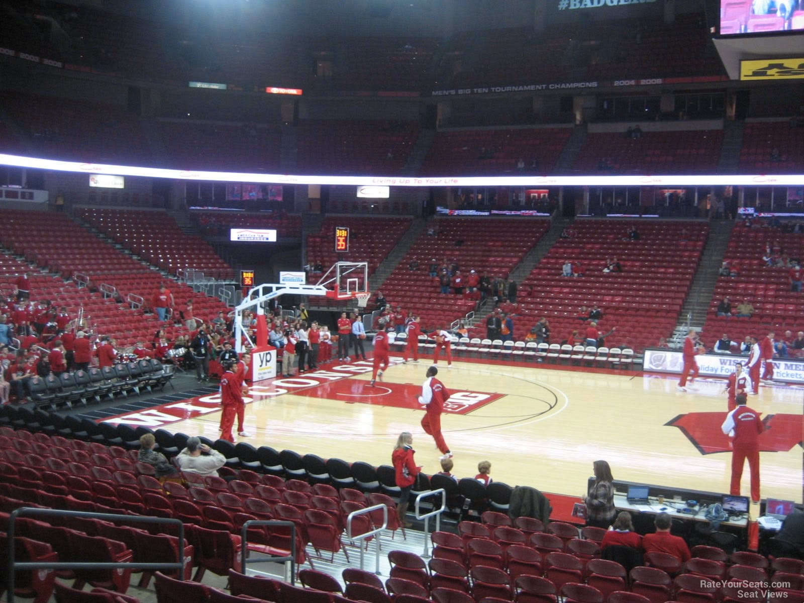Seat View for Kohl Center Section 108