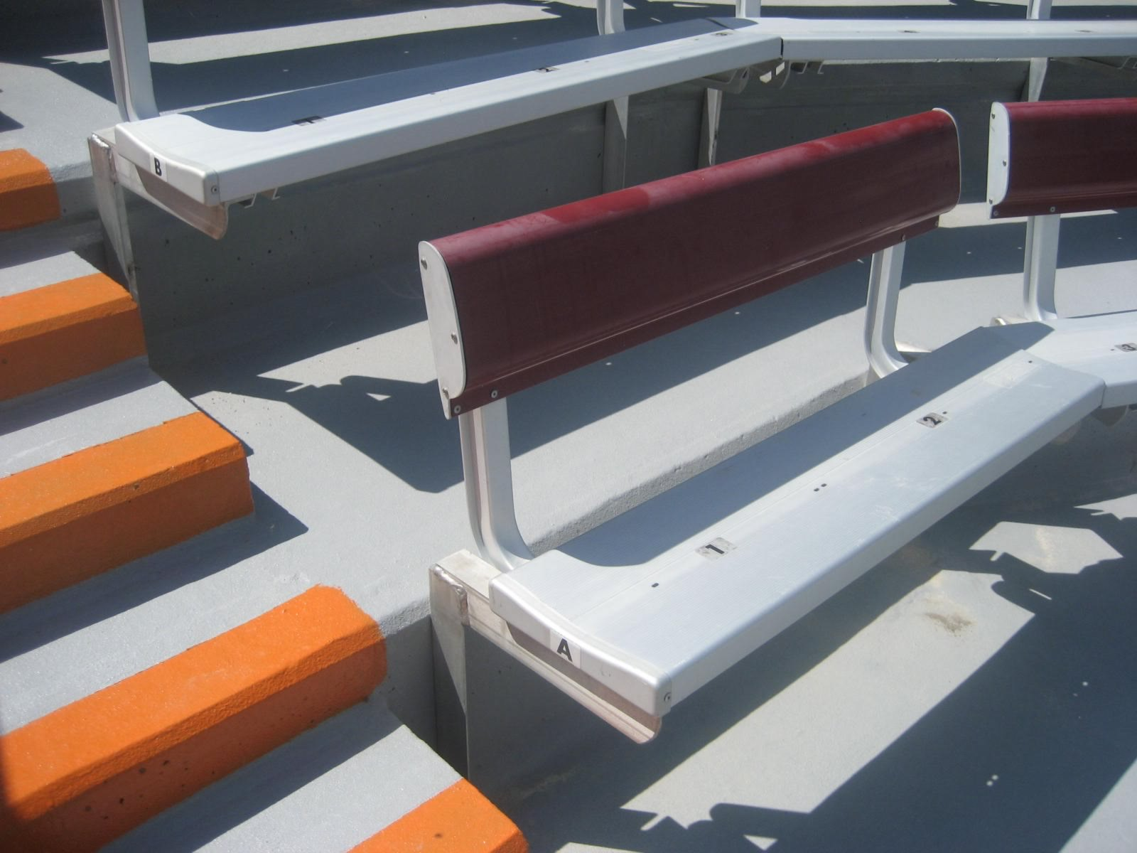 bleachers with backs