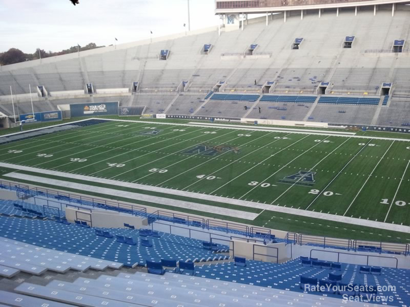View from Section 101 Row 60 at the Liberty Bowl