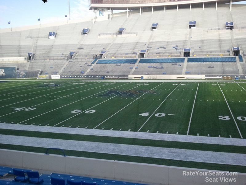 Seat View for Liberty Bowl Section 103, Row 20