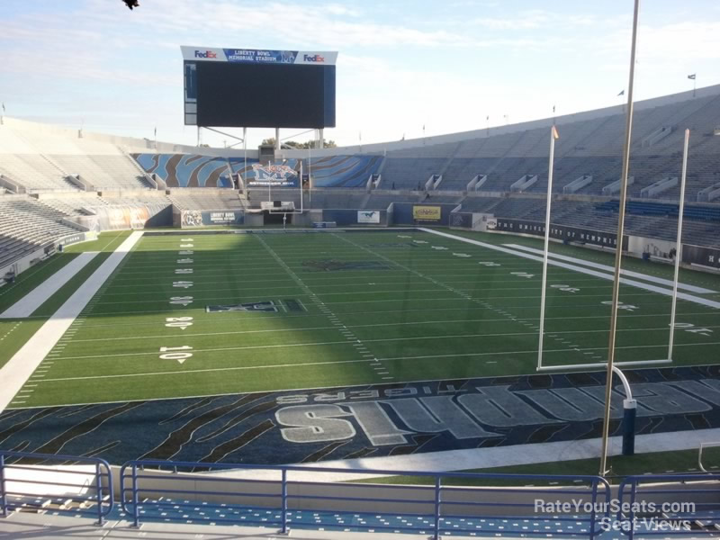 Seat View for Liberty Bowl Section 114, Row 33