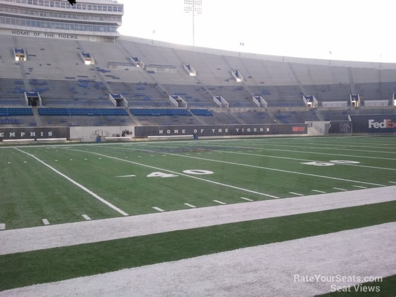 Seat View for Liberty Bowl Section 121, Row 1