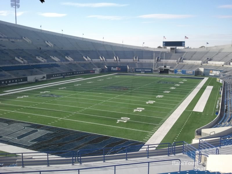 Seat View for Liberty Bowl Section 125, Row 40