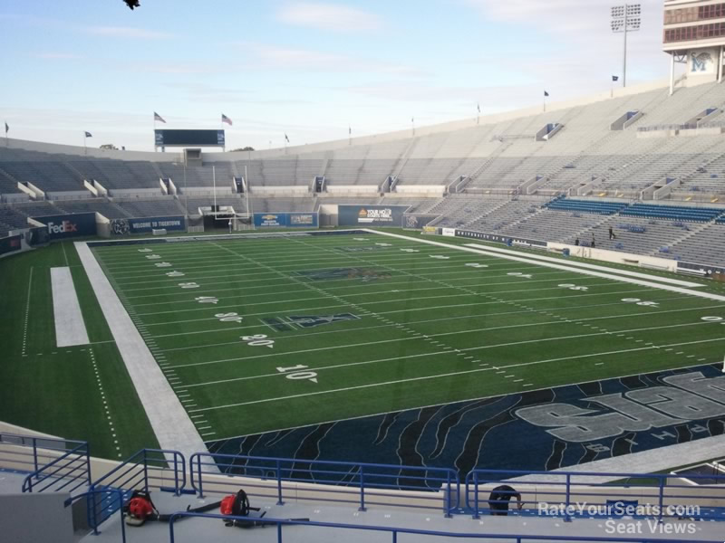 Seat View for Liberty Bowl Section 129, Row 38
