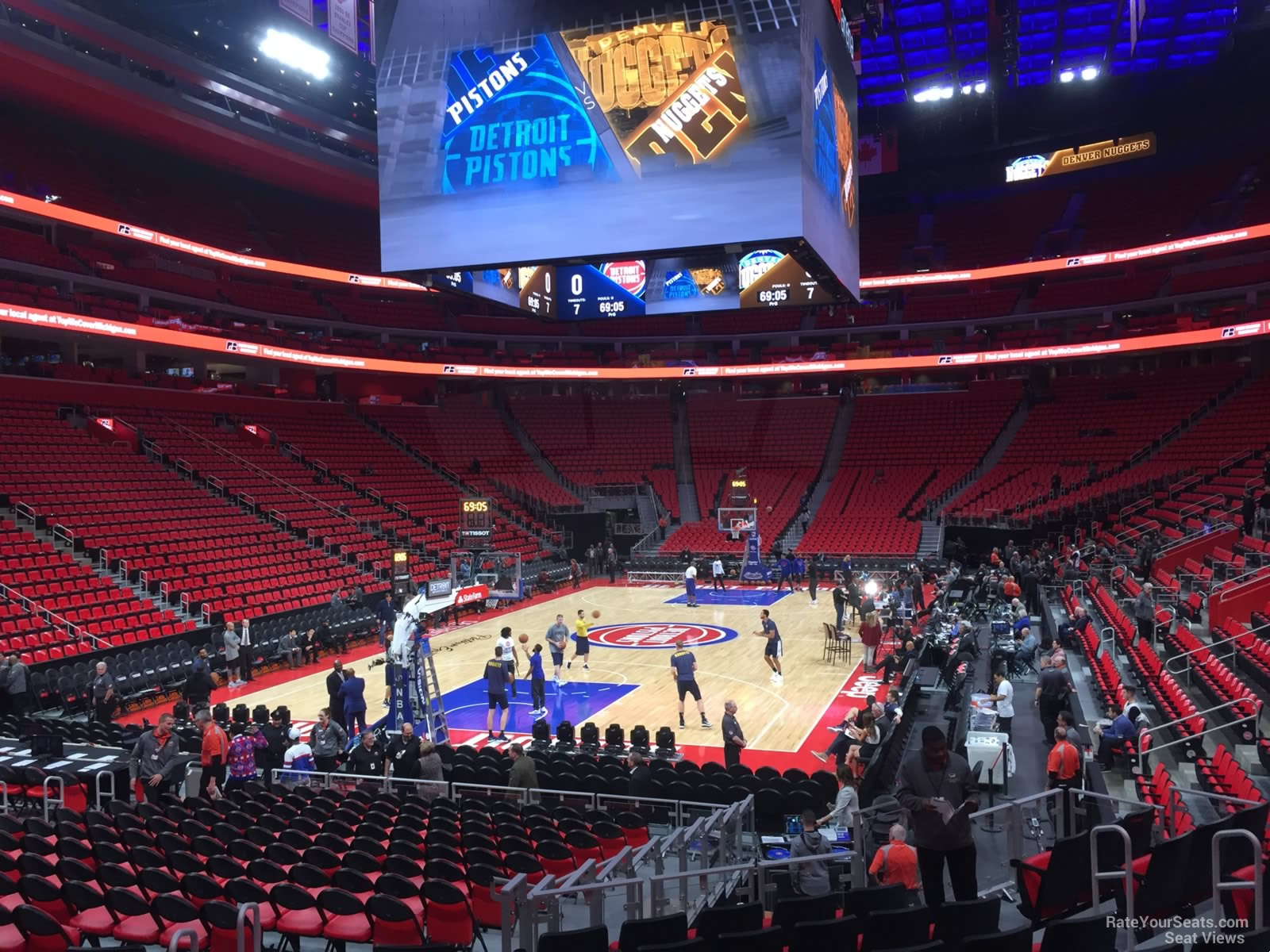 Detroit Pistons Seat View for Little Caesars Arena Section 101 Row 10