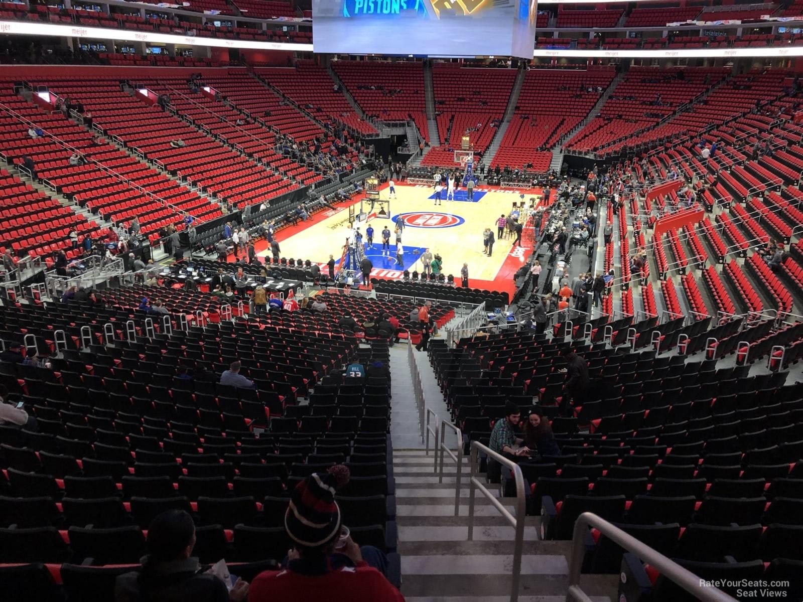 Little Caesars Arena Section 102 - Detroit Pistons - RateYourSeats.com