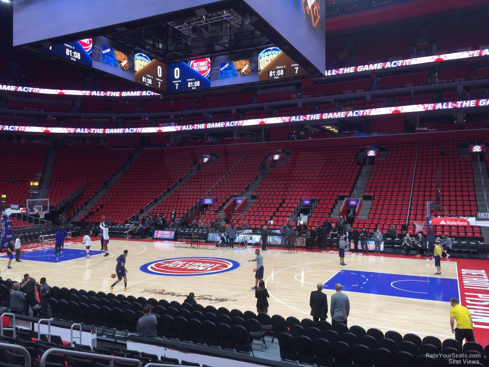 Detroit Pistons Seat View for Little Caesars Arena Section 107
