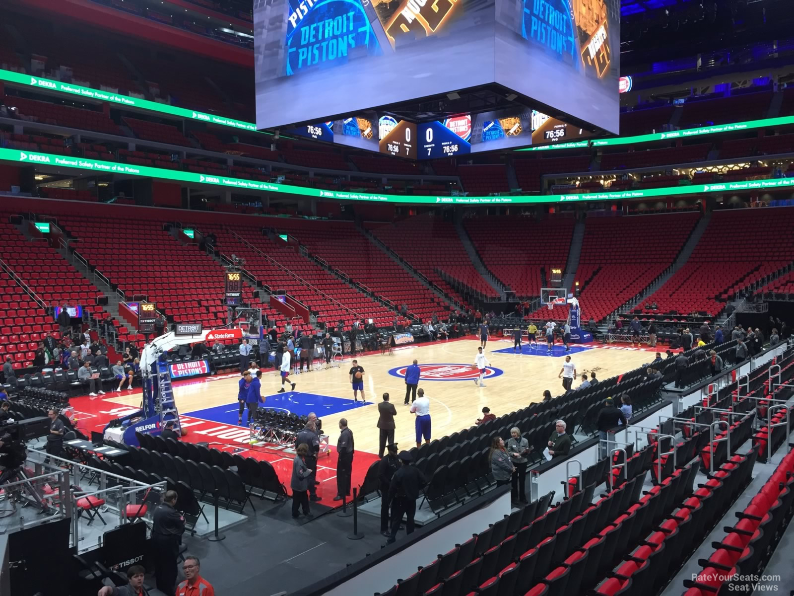 Detroit Pistons Seat View for Little Caesars Arena Section 113