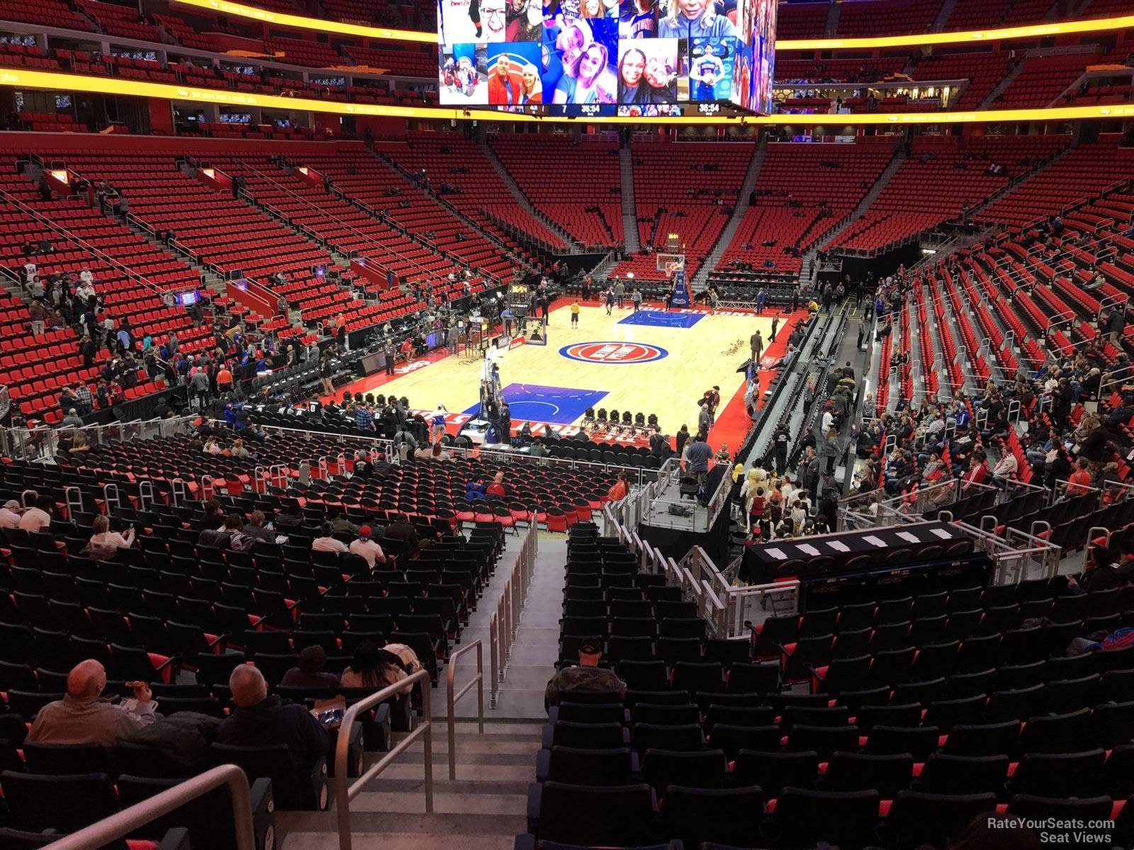 Little Caesars Arena Section 114 - Detroit Pistons - RateYourSeats.com
