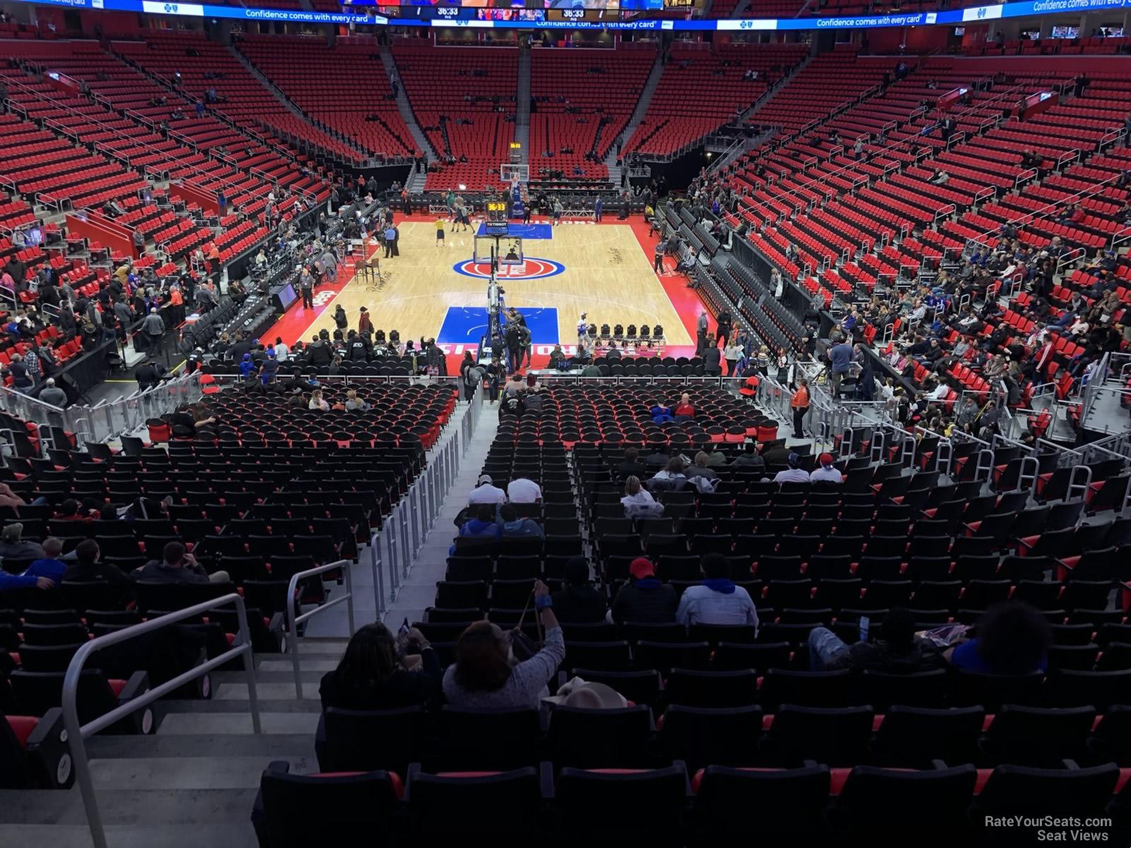 Little Caesars Arena Section 115 - Detroit Pistons - RateYourSeats.com