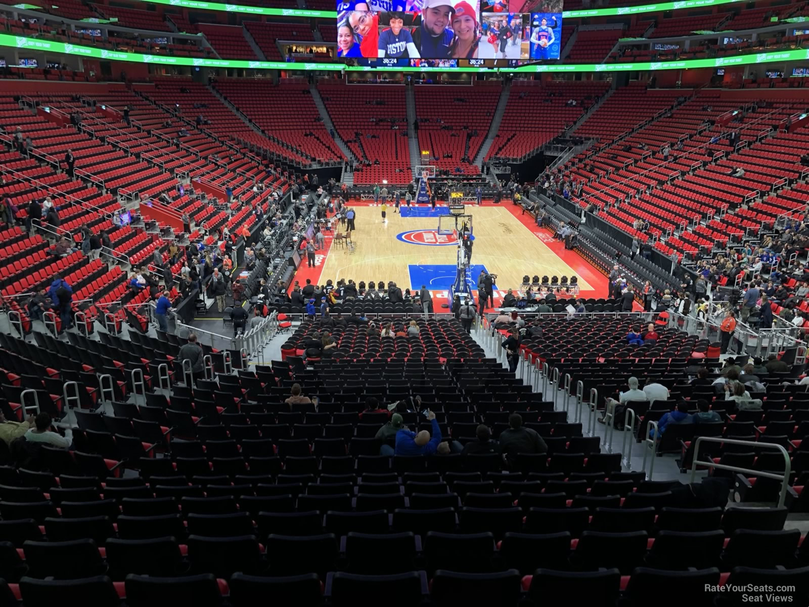 Detroit Pistons Seat View for Little Caesars Arena Section 116