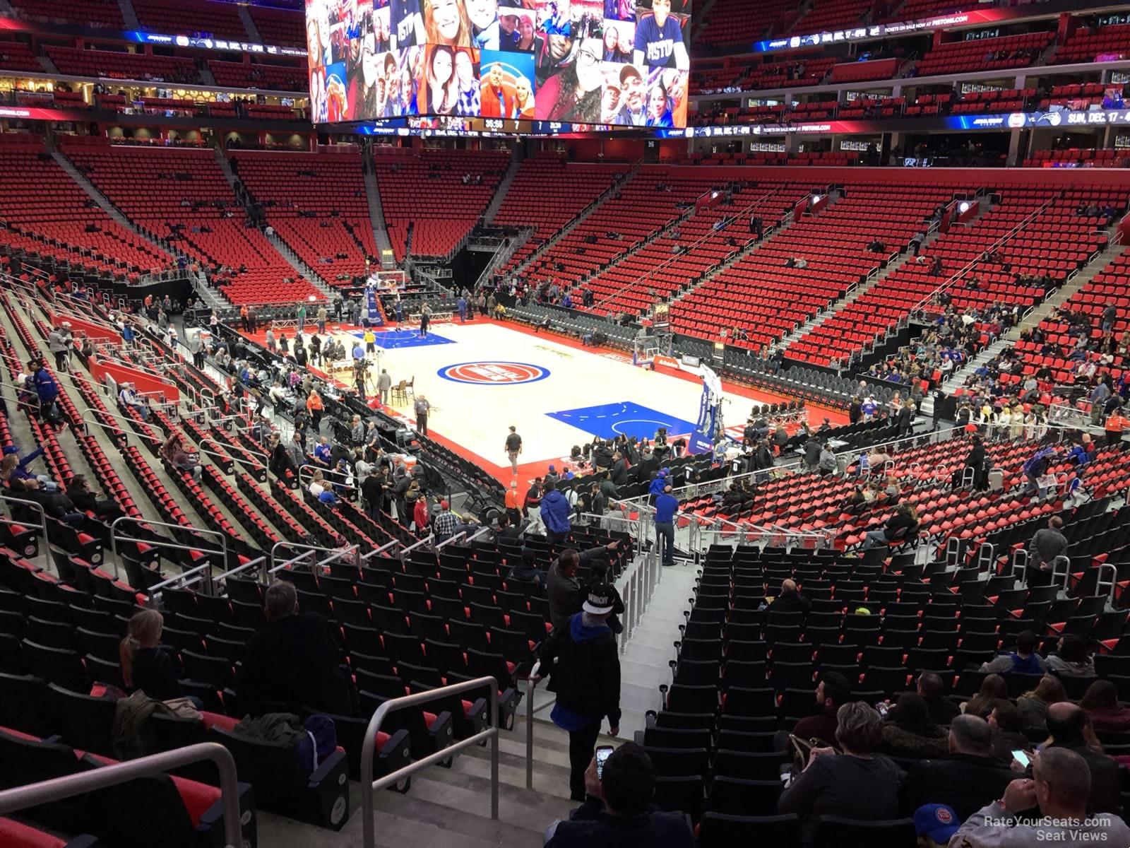 Little Caesars Arena Section 117 - Detroit Pistons - RateYourSeats.com