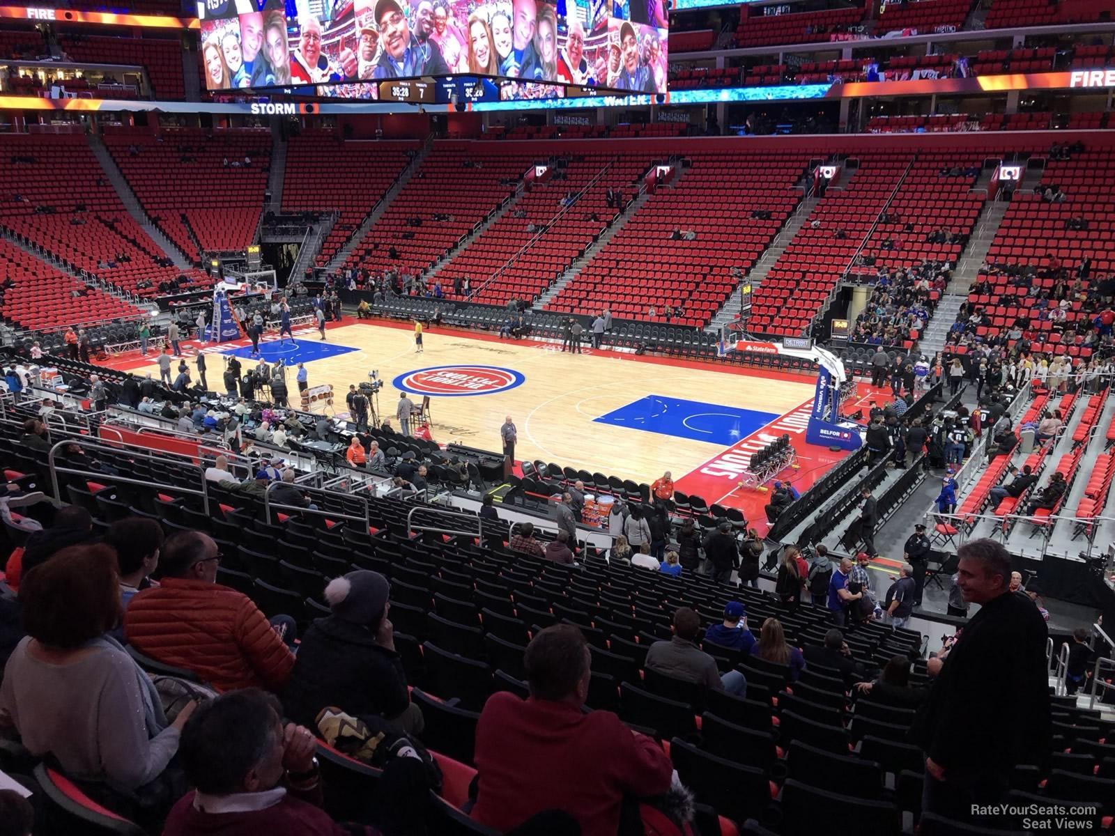 Little Caesars Arena Section 119 - Detroit Pistons - RateYourSeats.com
