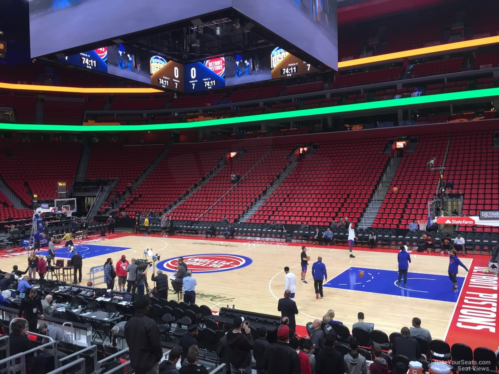 Detroit Pistons Seat View for Little Caesars Arena Section 120