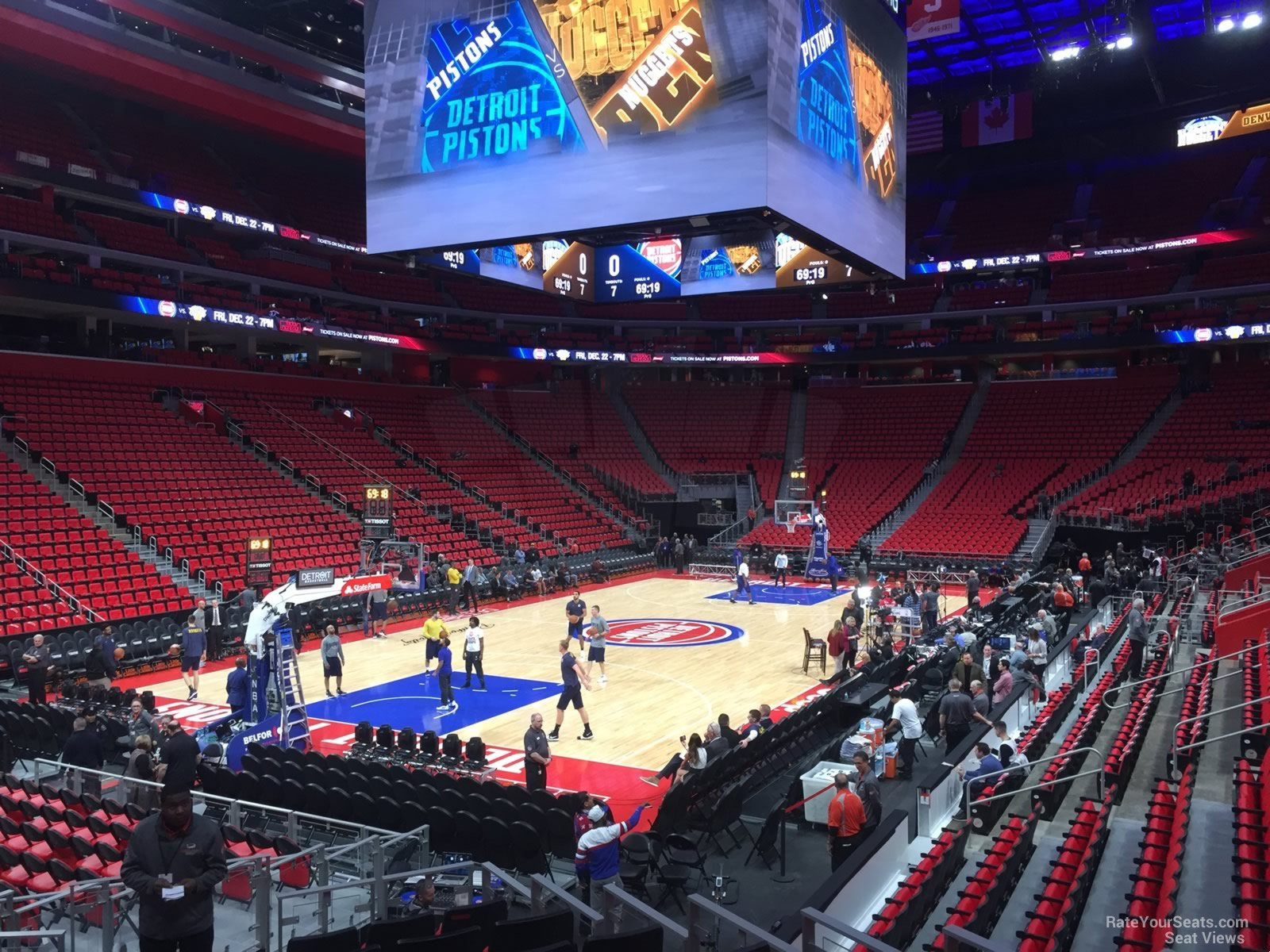 Detroit Pistons Seat View for Little Caesars Arena Section 126