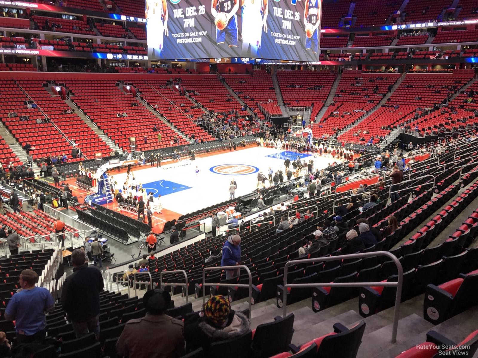 Little Caesars Arena Section 126 - Detroit Pistons - RateYourSeats.com