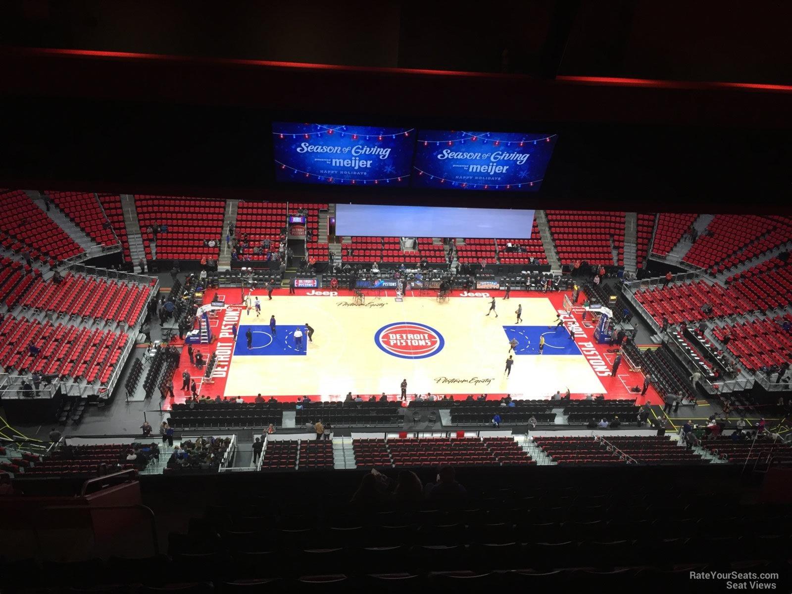 Little Caesars Arena Section 212 - Detroit Pistons - RateYourSeats.com