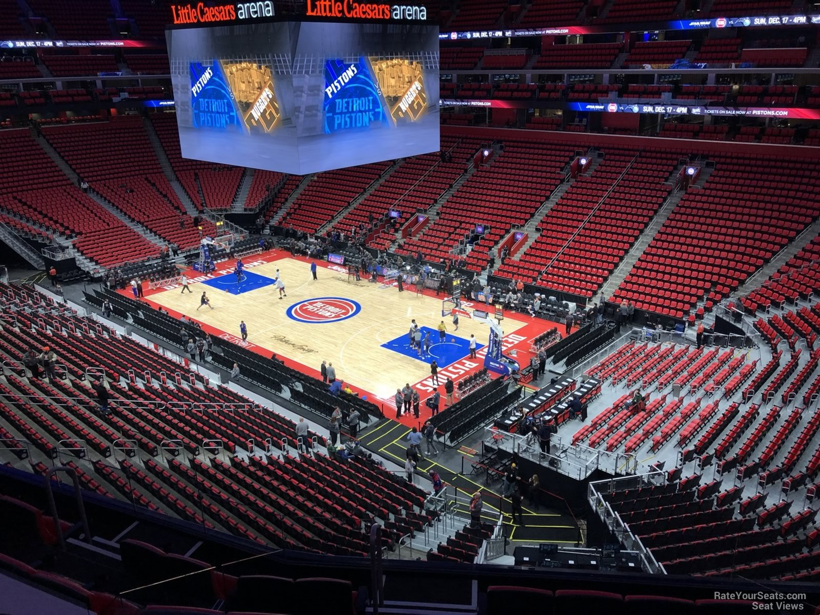 Detroit Pistons Seat View for Little Caesars Arena Mezzanine 6, Row 2