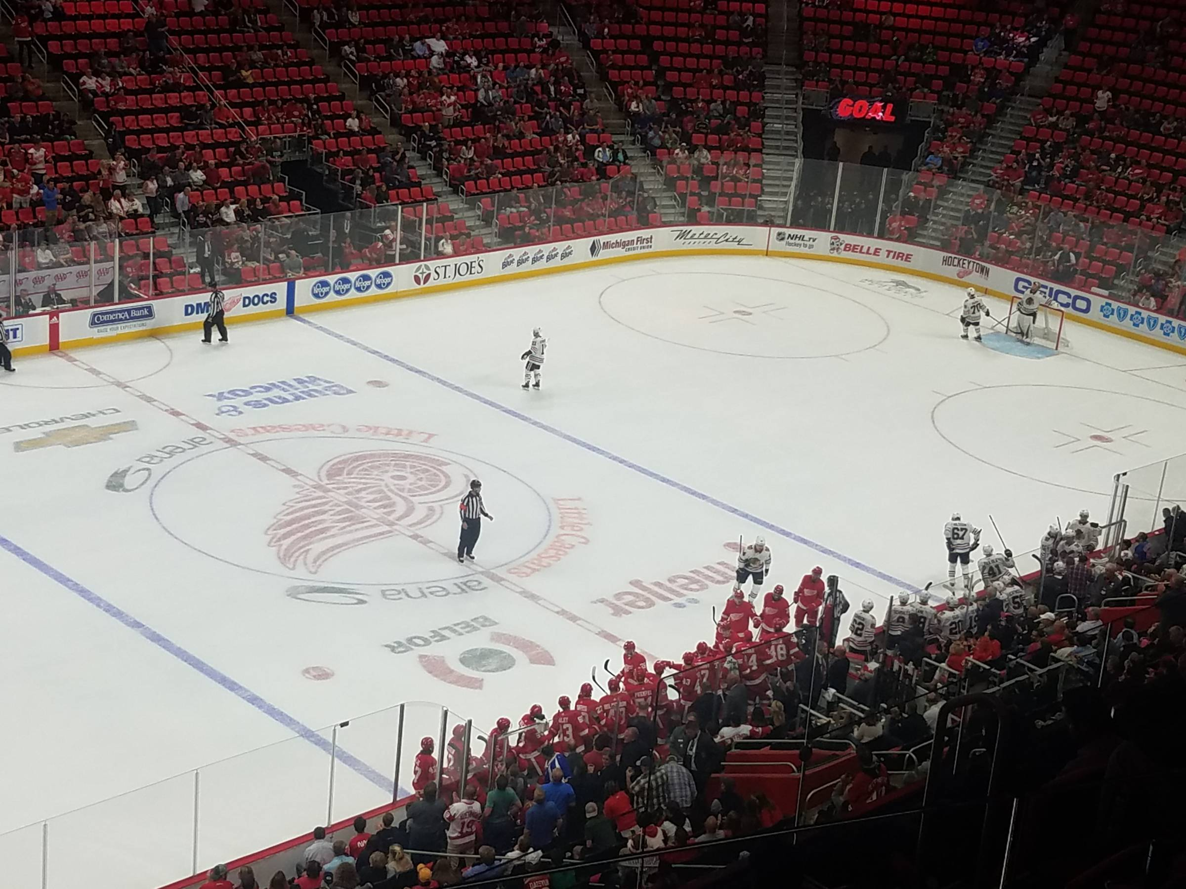 picture relating to Detroit Red Wings Printable Schedule referred to as Detroit Purple Wings Seating Consultant - Tiny Caesars Arena