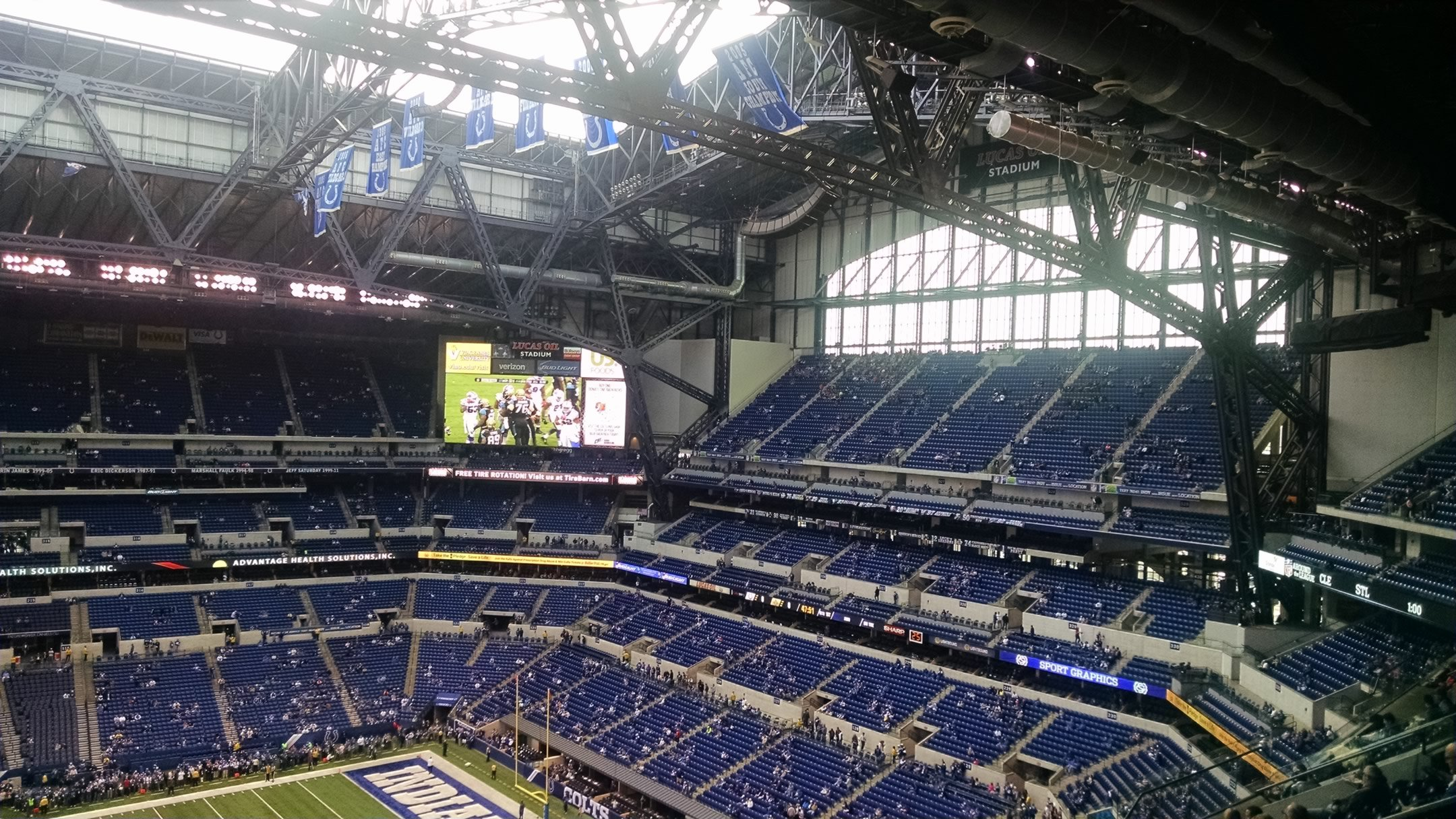 lucas oil stadium terrace level endzone football seating
