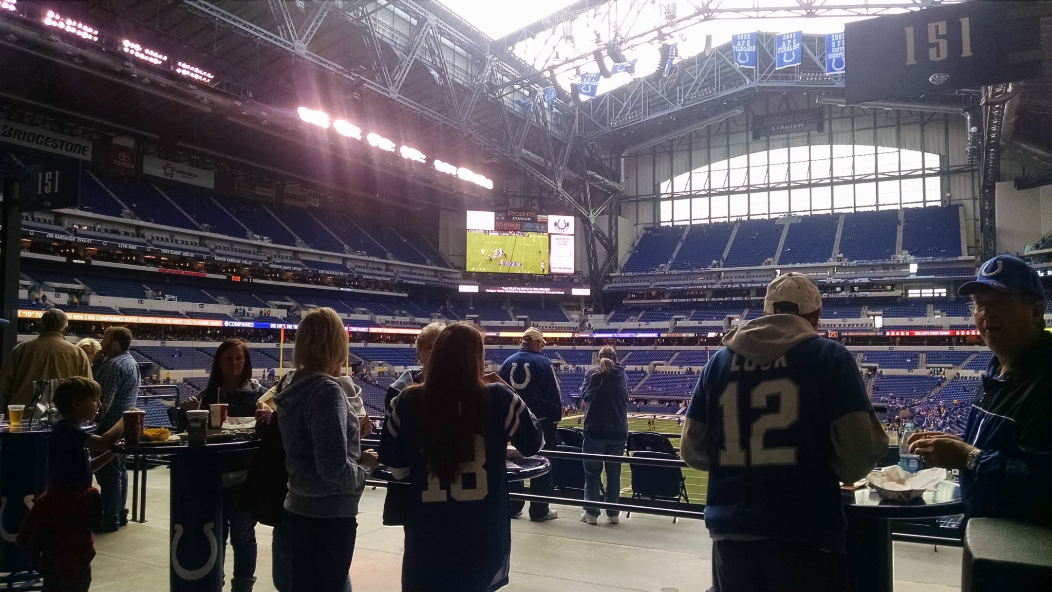 Indianapolis Colts Seating Guide Lucas Oil Stadium