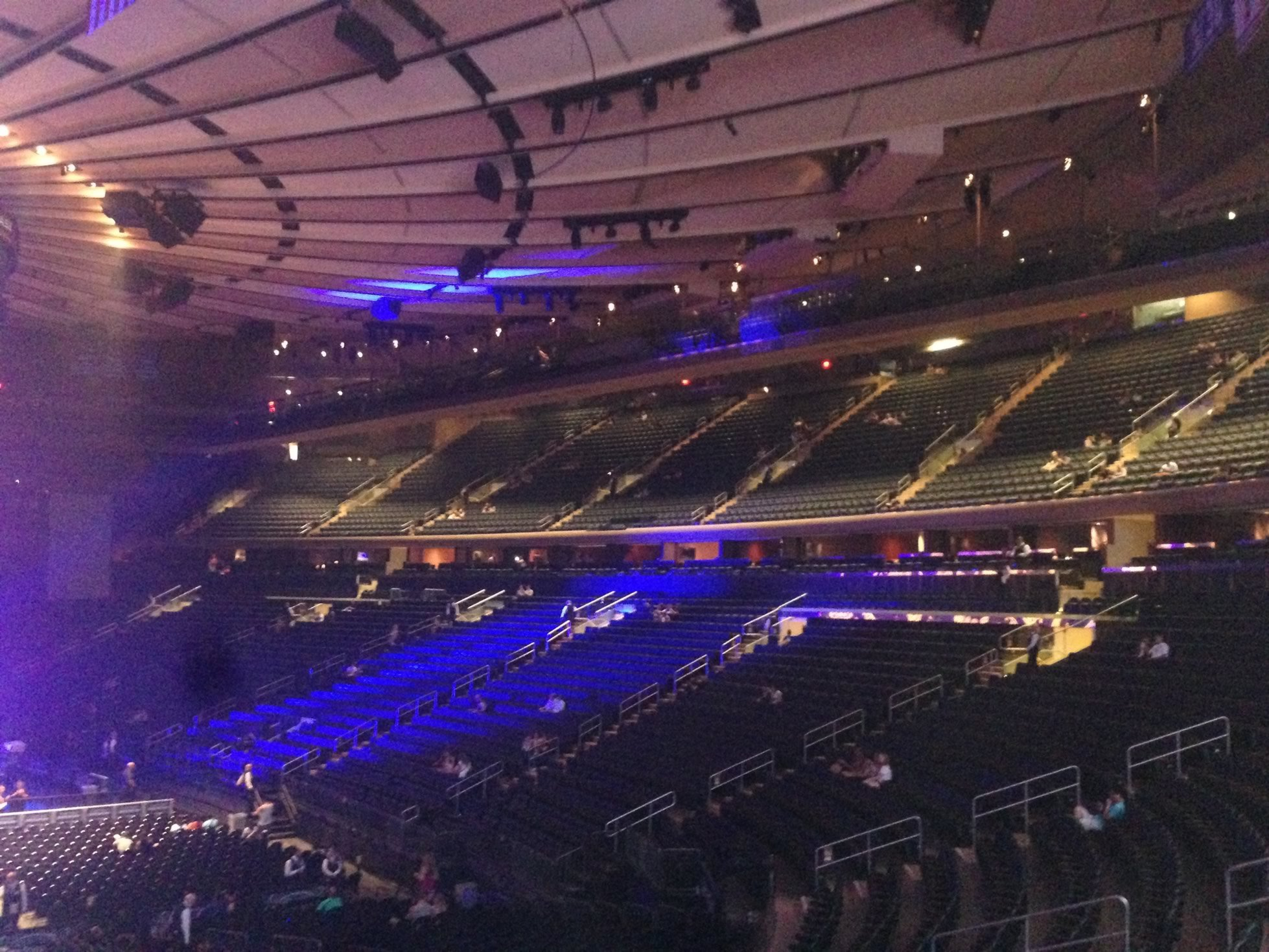 Madison Square Garden 200 Level Side Concert Seating