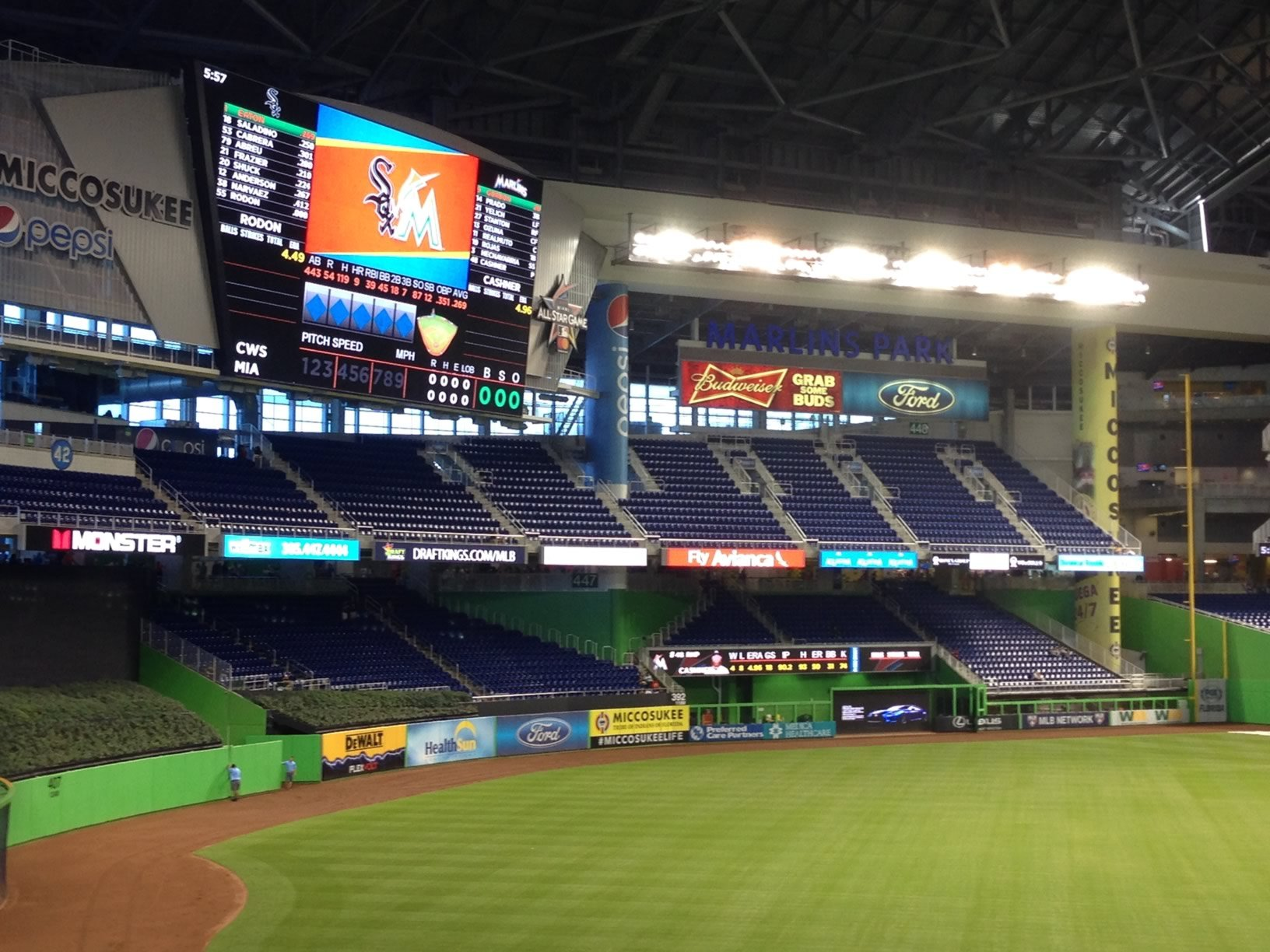 Marlins Park Outfield Seats in Right Field